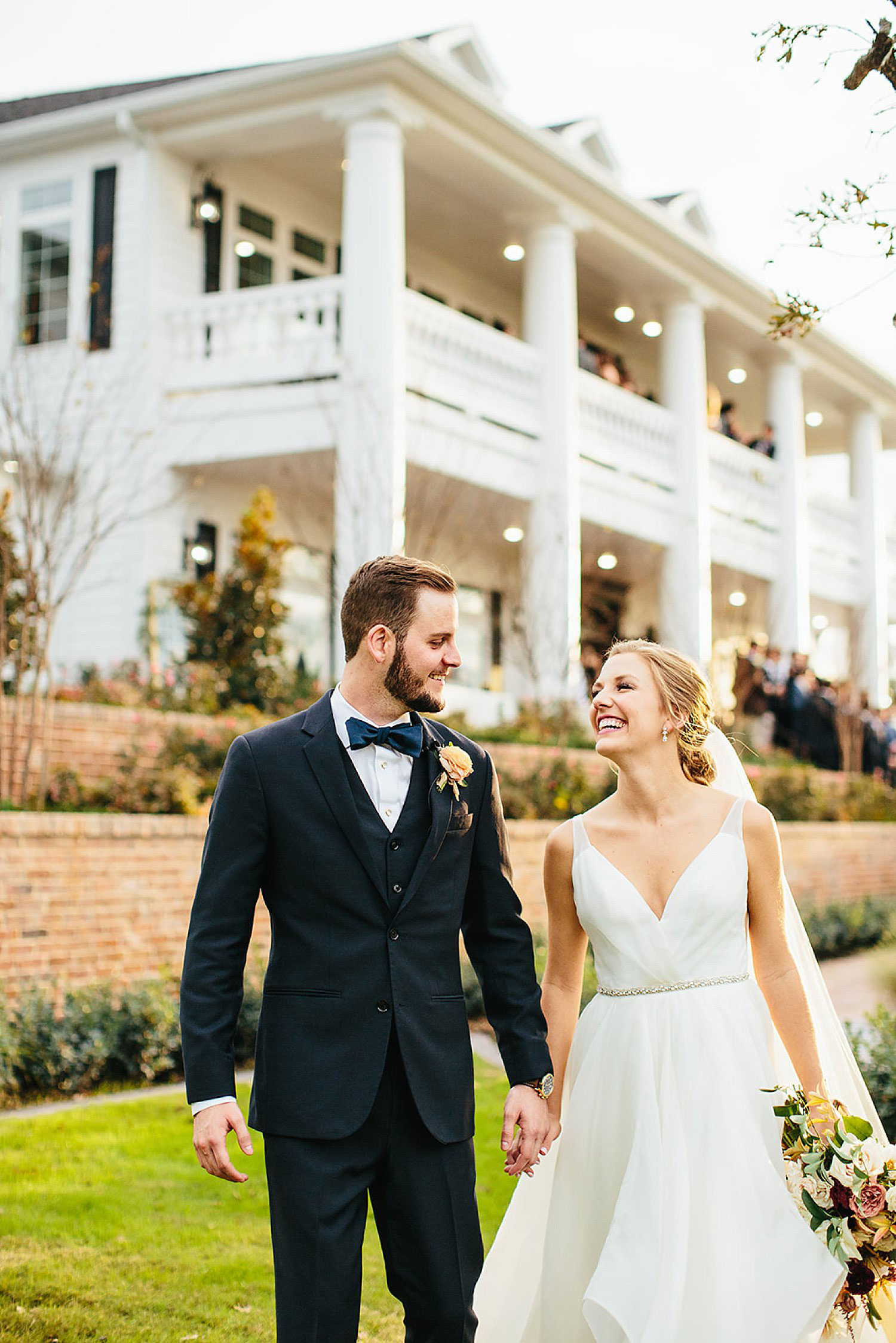 Southern bride and groom at a Texas wedding