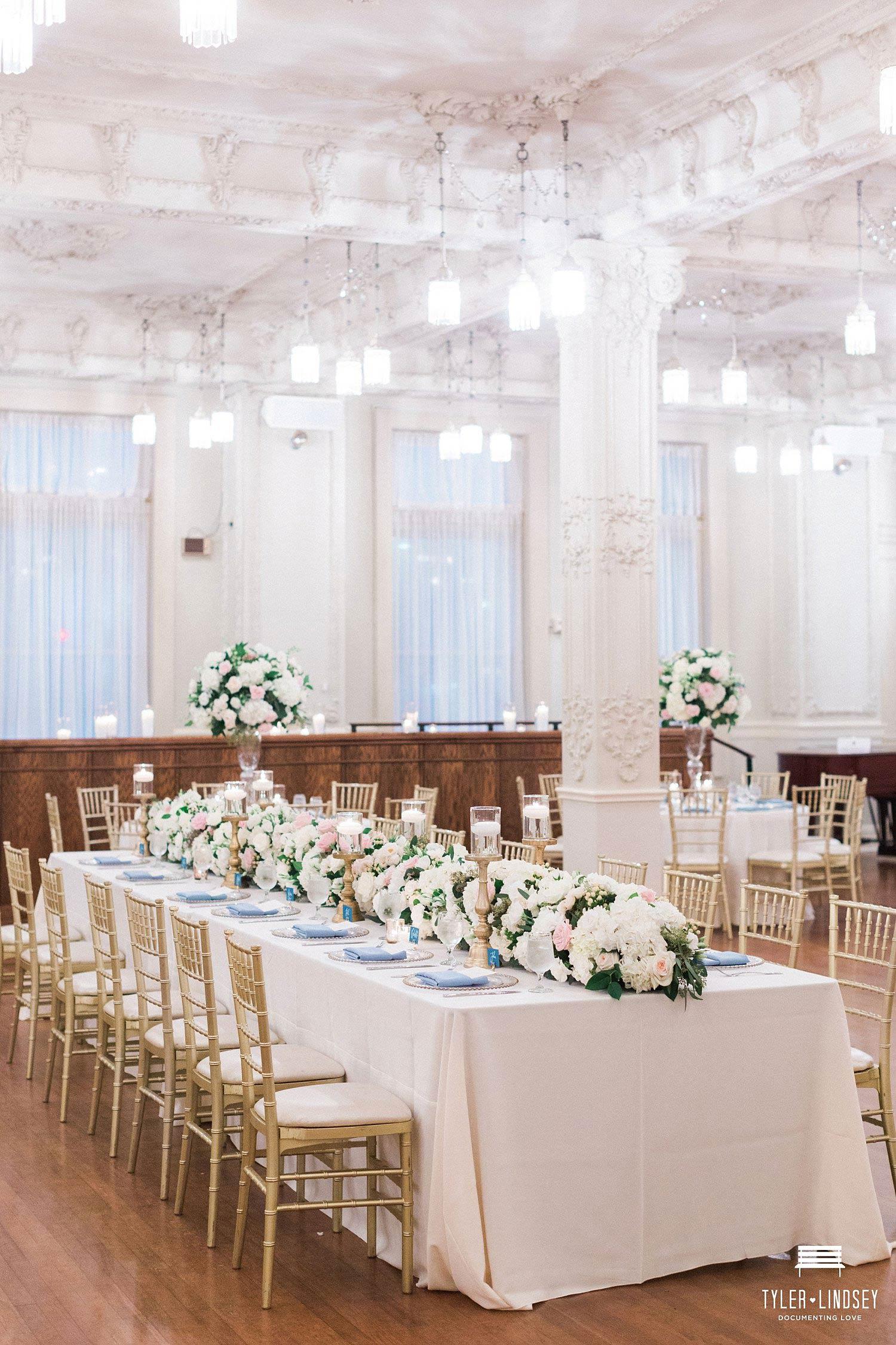 Dallas Scottish Rite Crystal Ballroom Wedding Reception