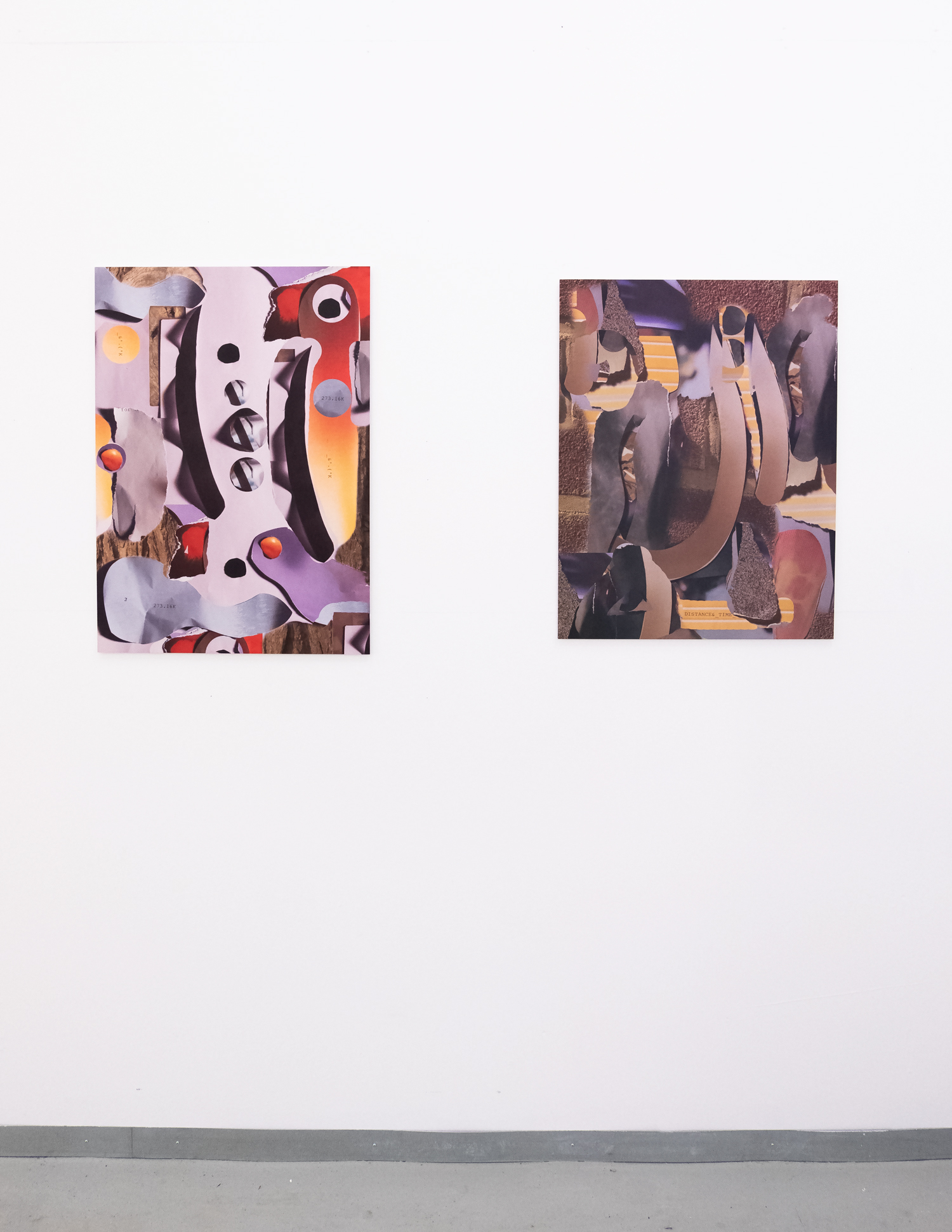 FOPDTMM _ #13  (left)  FOPDTMM_#4  (Rright) Elephant Magazine Summer Exhibition, Elephant West, White City, 2019