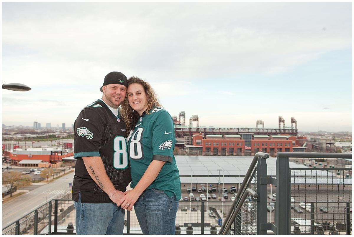 Eagles Engagement Session - Philadelphia Wedding Photographer