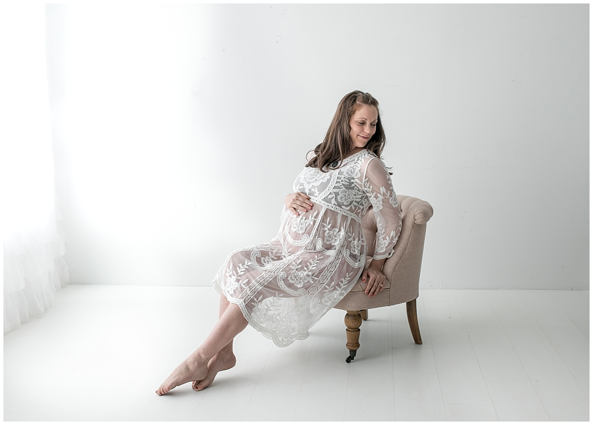 South Jersey Maternity Photographer Studio Maternity Session