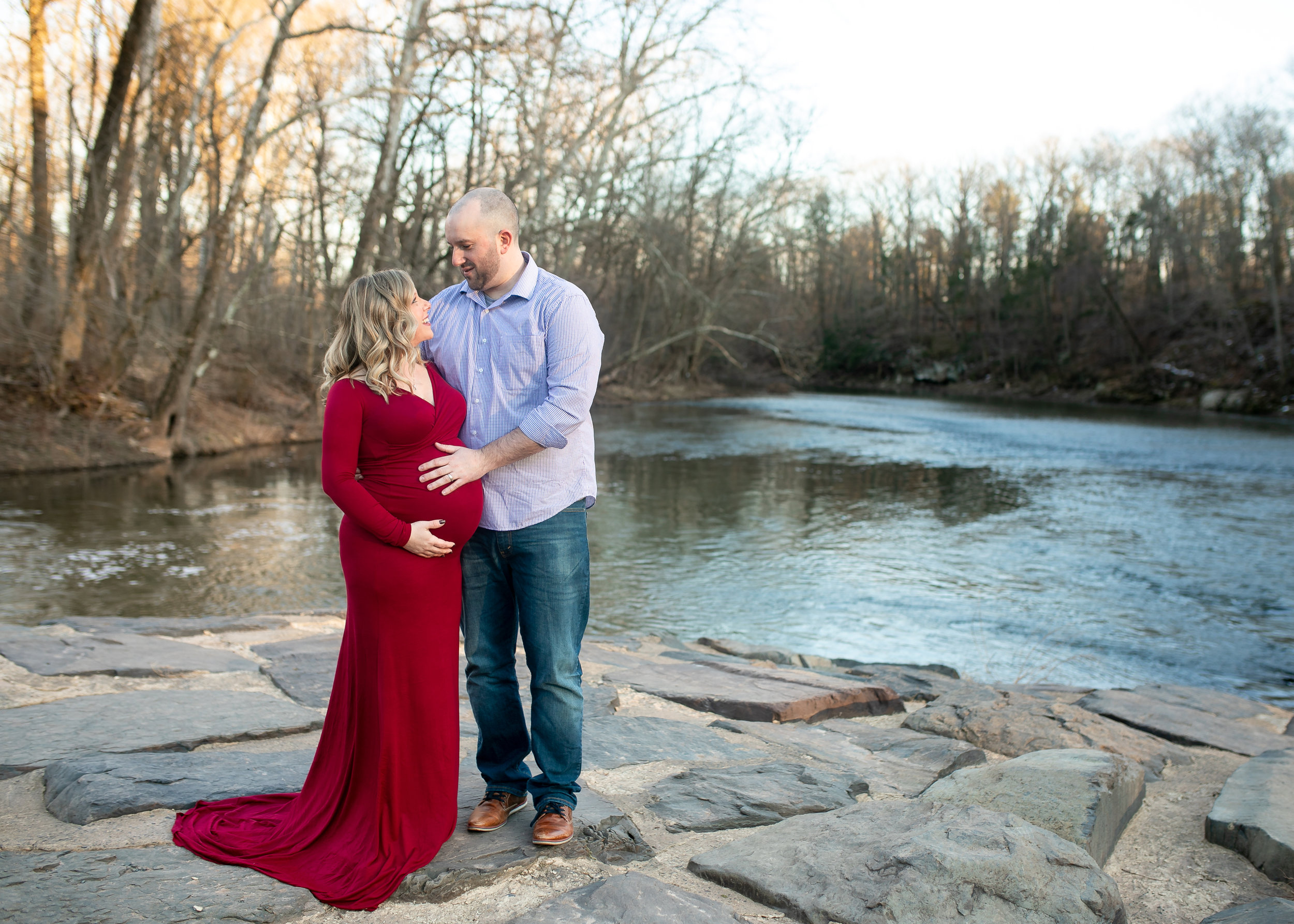 Kacie South Jersey Tyler State Park Maternity Session 003