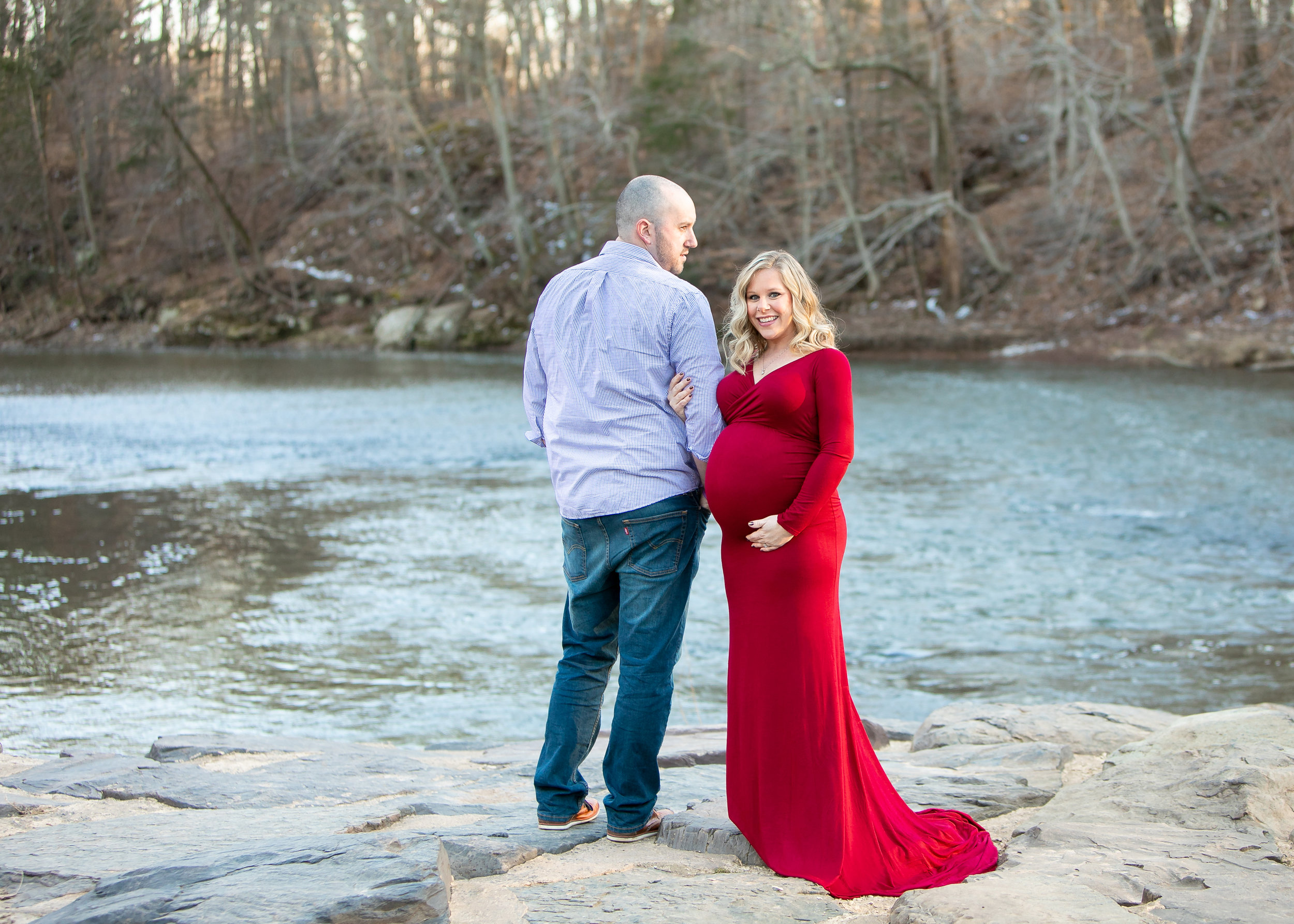Kacie South Jersey Tyler State Park Maternity Session 005