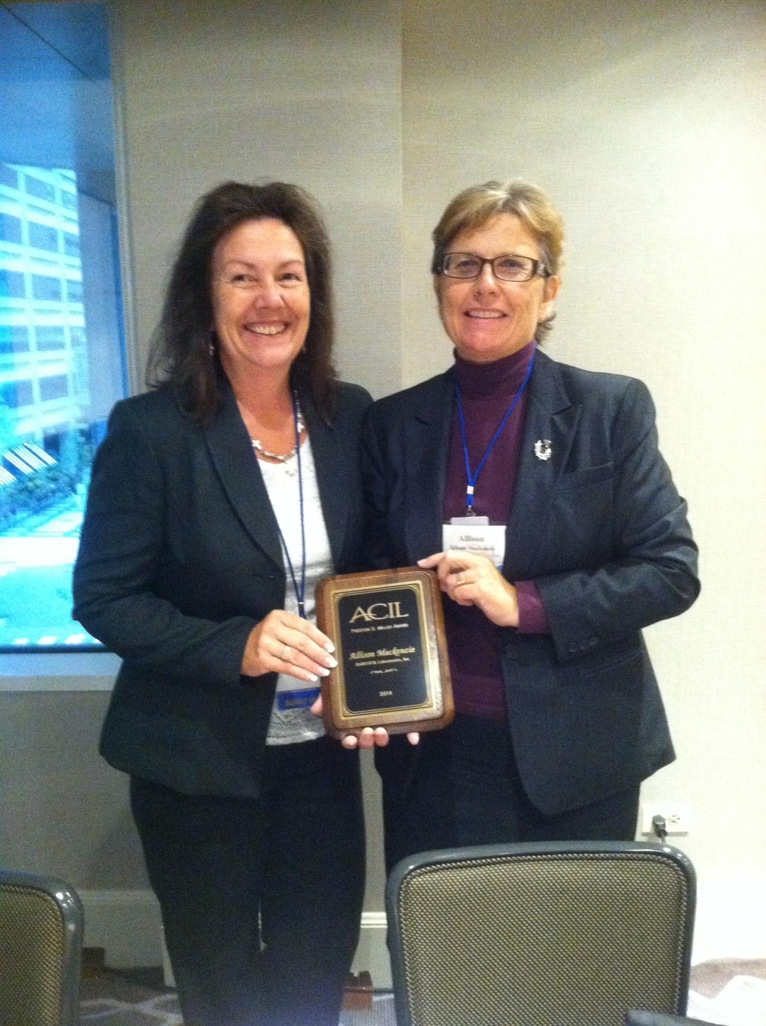 Our CEO Allison Mackenzie is a two-time recipient of the prestigious Preston Millar Award from ACIL