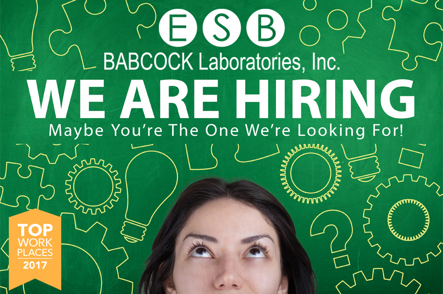One of the oldest and most prestigious businesses in the Inland Empire is now hiring! The job hunt is over: find your dream career at Babcock Laboratories. Currently hiring: laboratory professionals, administrative professionals, and sales representatives.