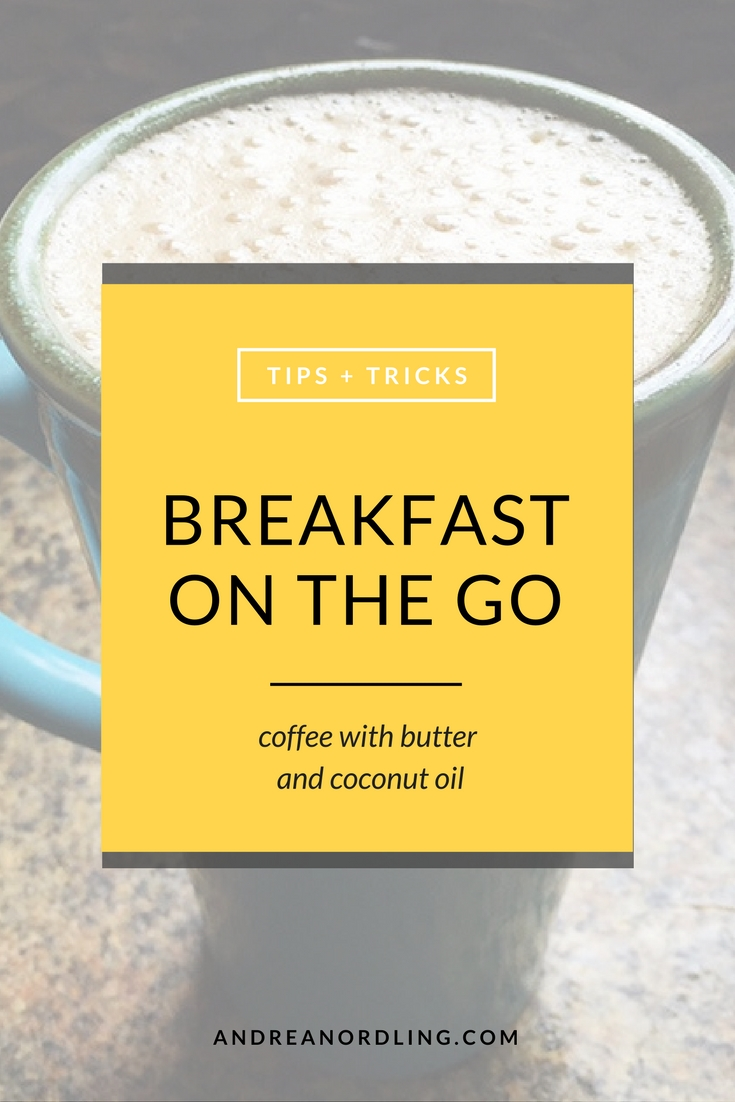 """Breakfast on the go: """"Bulletproof"""" Coffee with butter and coconut oil"""