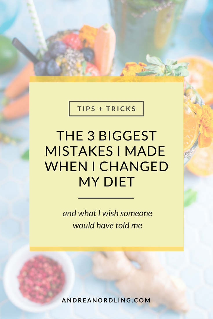 The three biggest mistakes I made when I changed to a Paleo diet and what I wish someone would have told me.