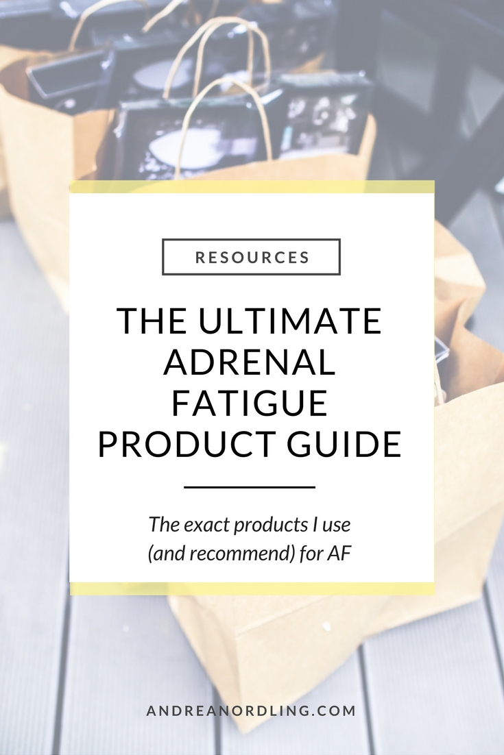 When you're experiencing adrenal fatigue or hormone issues, you just want to know what you can use to help yourself. I get it...so I detailed the exact products I recommend to my 1:1 clients (and use myself!)