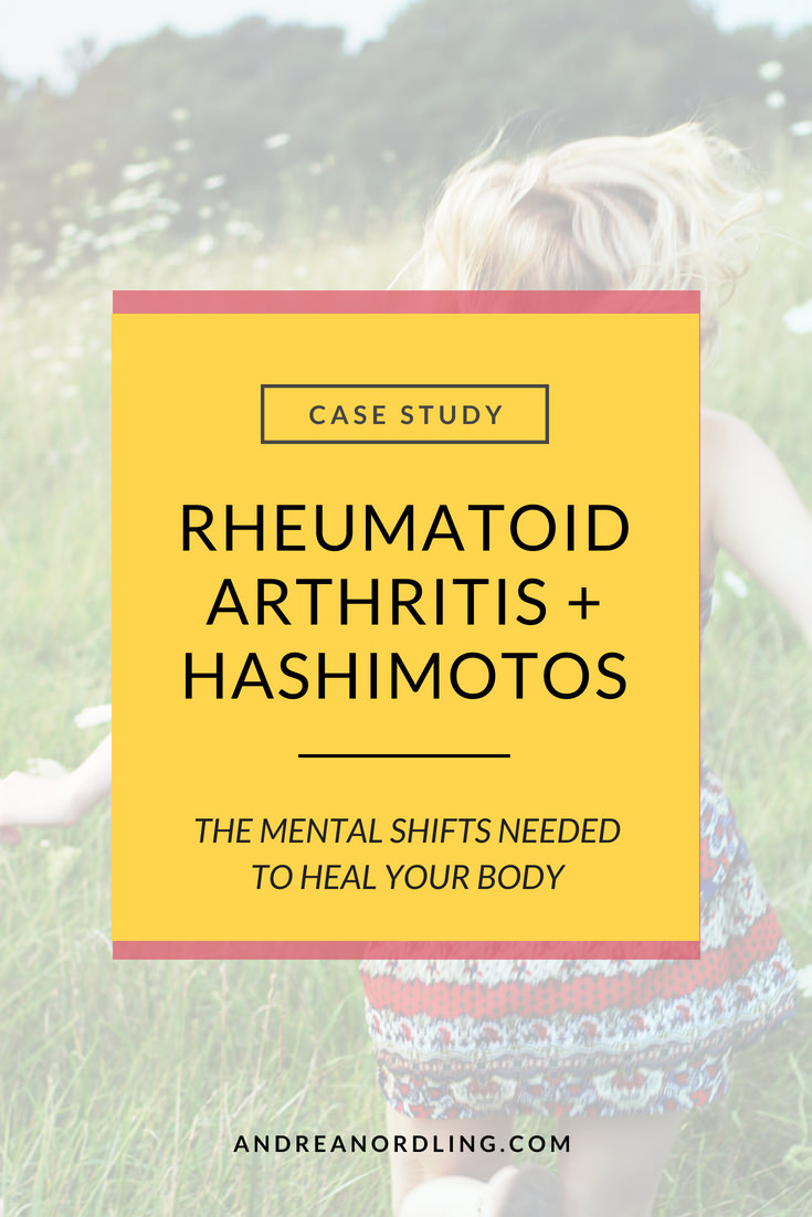 When you're looking for remedies to heal rheumatoid arthritis, Hashimoto's or any autoimmune disease, you need to look at the common lifestyle stressors that are probably making it worse! --> Check out this case study of a Holistic Nutritionist who found healing beyond diet alone. #thyroid #hypothyroid #rheumatoidarthritis