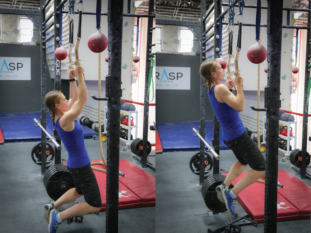 3 x 30 Pull-Ups - two sets on tools, one on hands, 3 x 30 Lock Offs