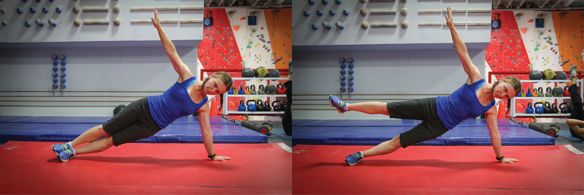 Side Plank, Side Plank with one leg raised