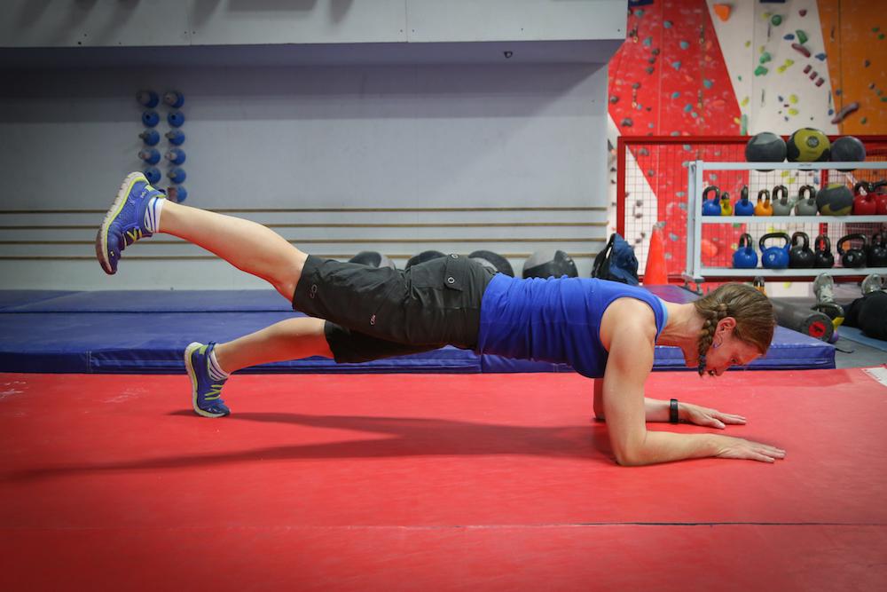 Basic Plank with one leg raised