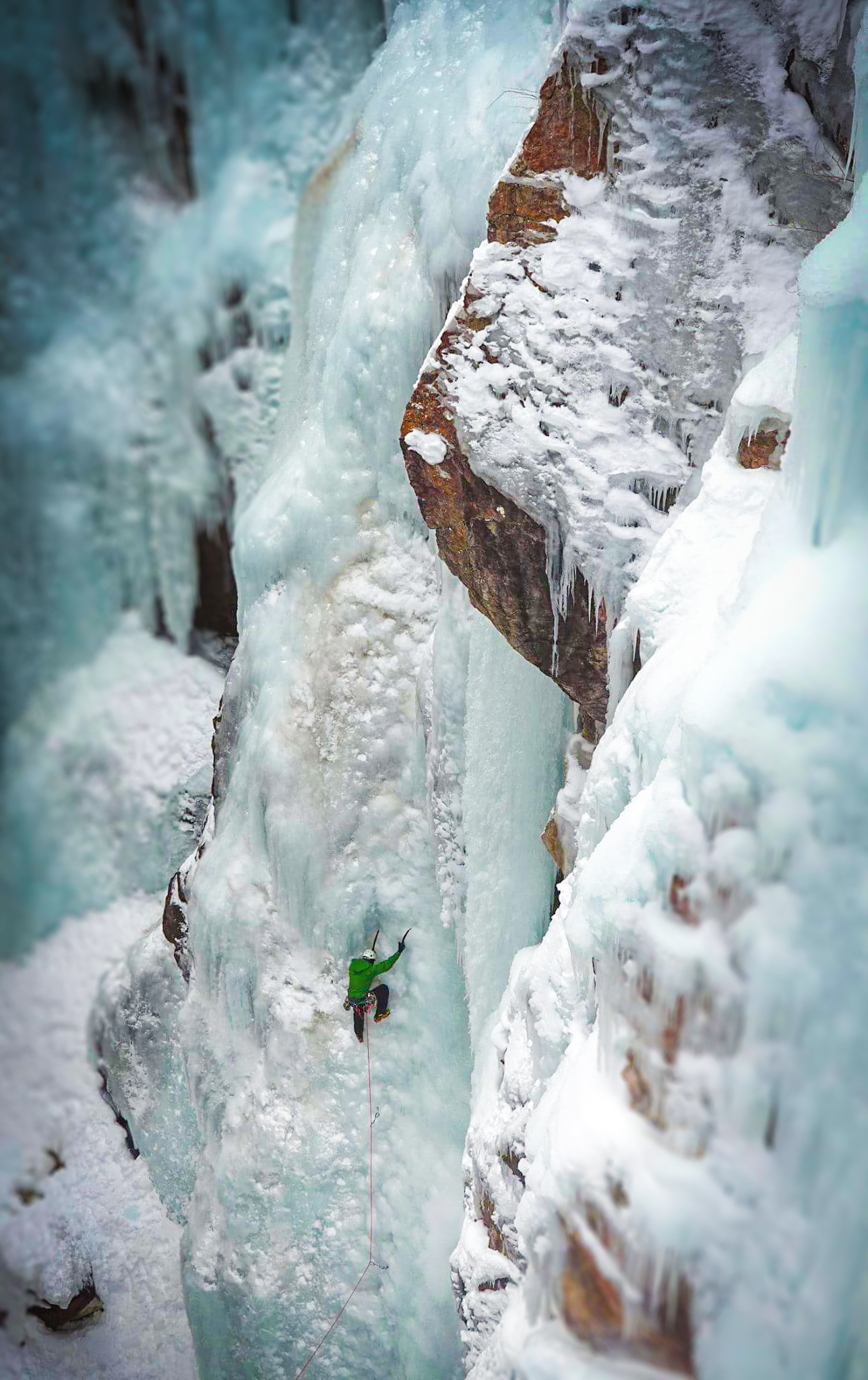 Derek Castonguay on Tangled Up In Blue WI4, Ouray CO