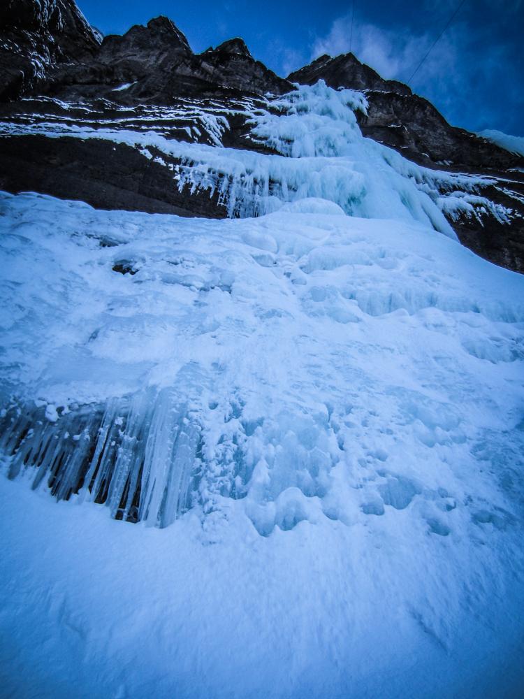 Furnace Industries Ice mixed climbing training Looking Up Bridalveil Falls