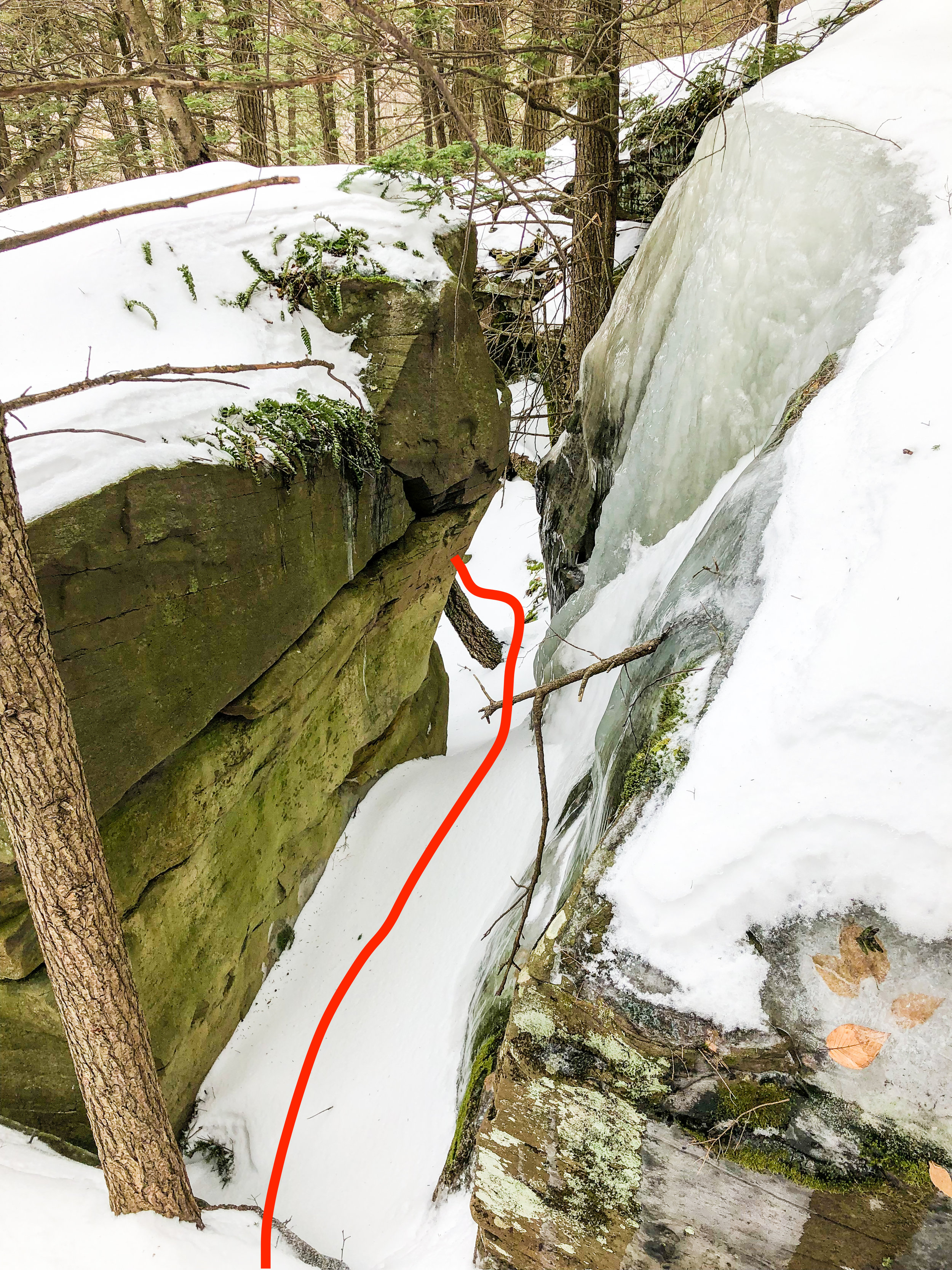 Route Guide Buttermilk Falls in the Catskills Ben Carlson BMF Kronos Furnace Industries DRY ICE Tools Descent 5.jpg