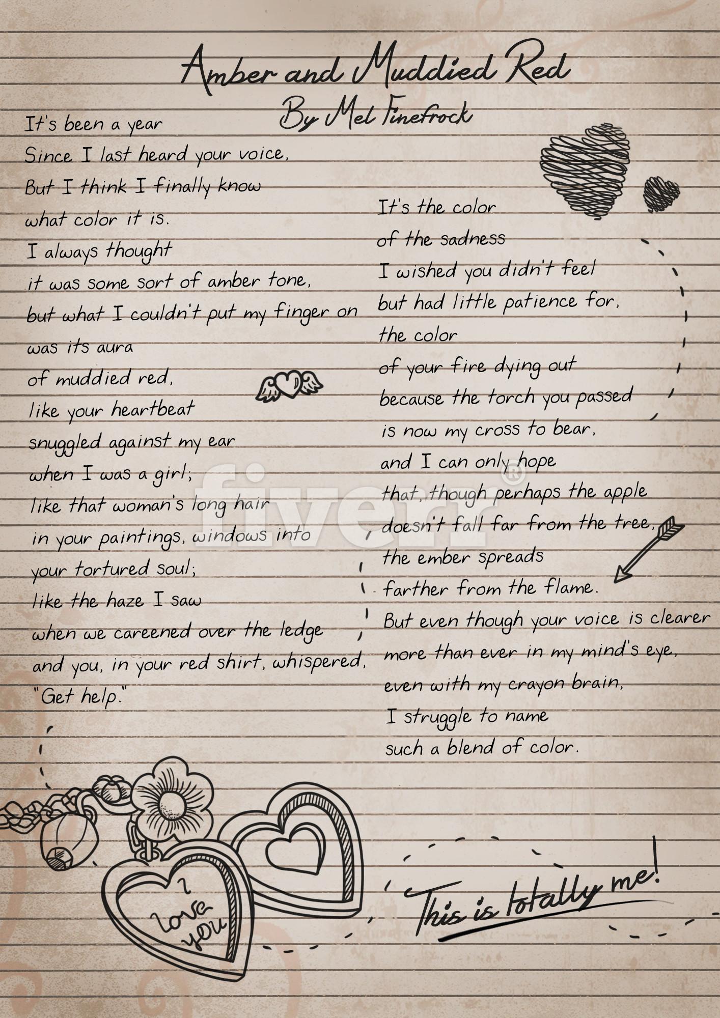 Read Ember's Poem