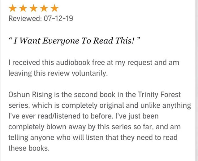 This review made my day today. 💜to @moiroset my audiobook narrator. 📚📚📚What is your favorite audiobook?🎧?? I just finished listening to #Rooms by @lauren_oliver_books.  Brilliant book. Highly recommend. #bookrecommendations #bookreview #yatrilogy #yafiction #suspense #audiobooks