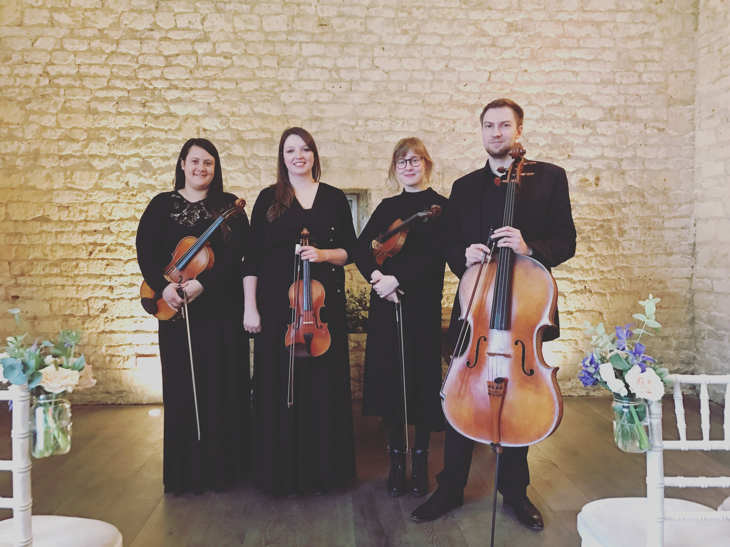 Vyne String Quartet at Lapstone Barn 2018.JPG