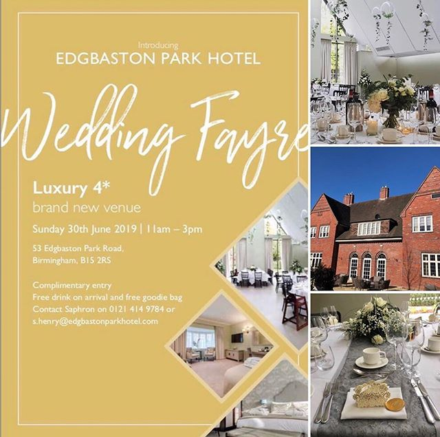We're playing at this exciting new wedding venue today in Birmingham for their first wedding fair @edgbastonparkhotel Come along and have a look around if you're in Birmingham 😊 #edgbastonparkhotel #birminghamwedding