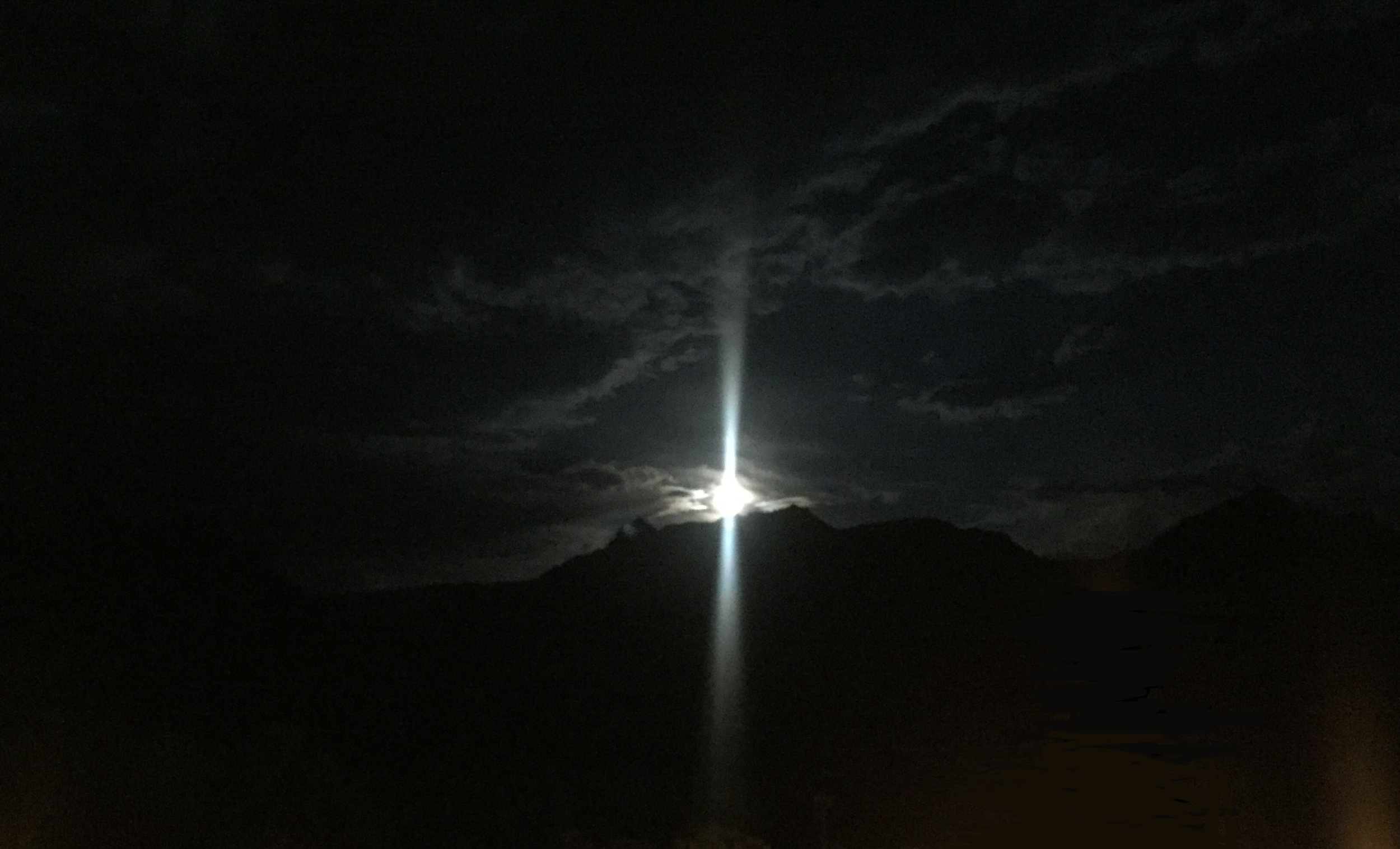 Full moon over Sedona. (We have not yet mastered taking pictures of the moon. But we are working on it.)