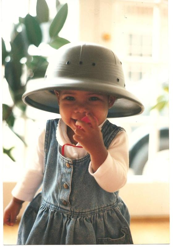Always the explorer, Jess as adventurous toddler!