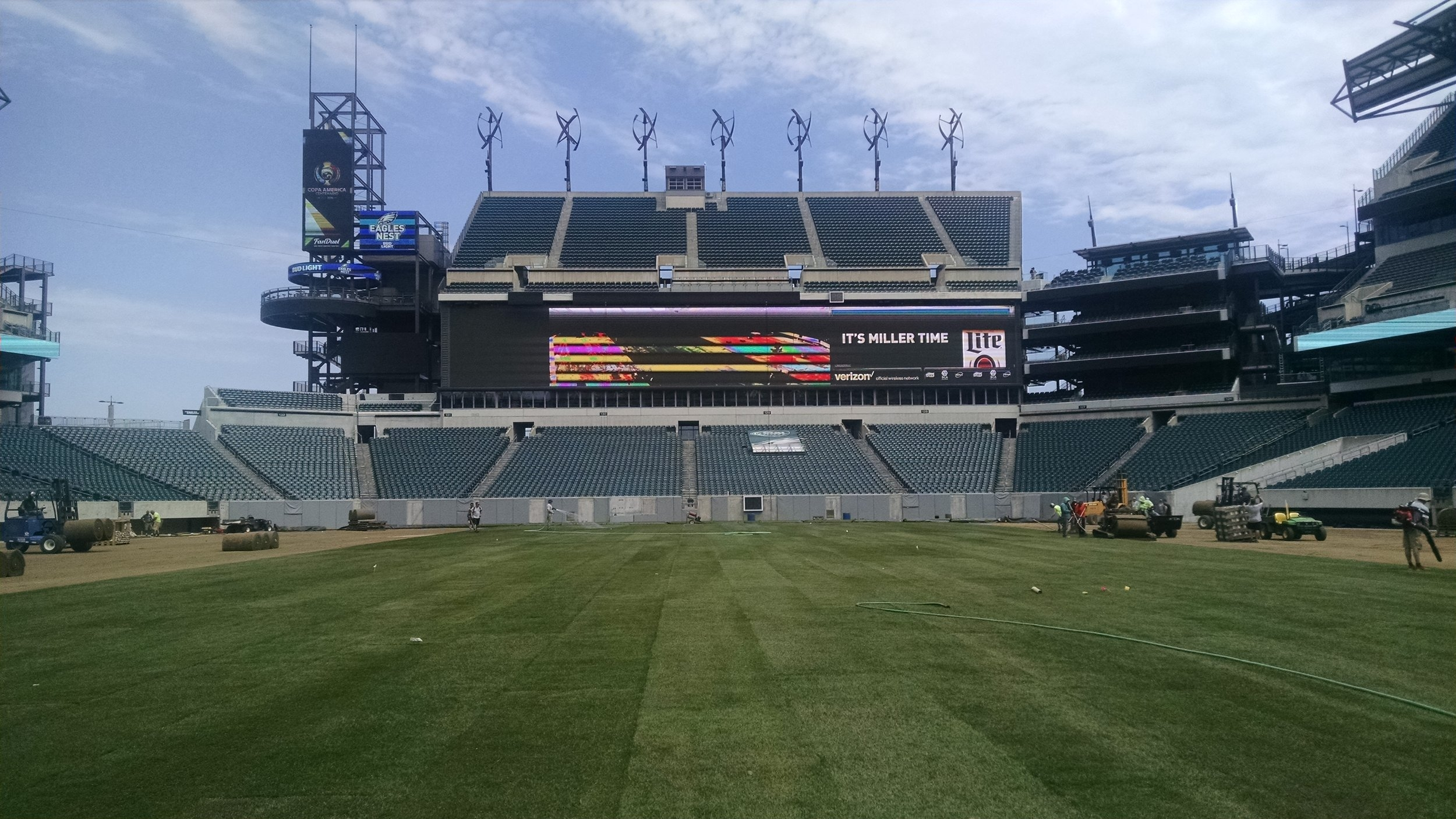 Athletic turf install and removal