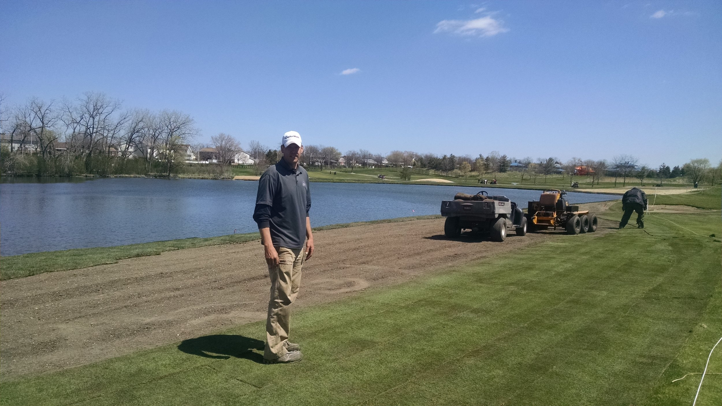 Overseeing The Bentgrass Install
