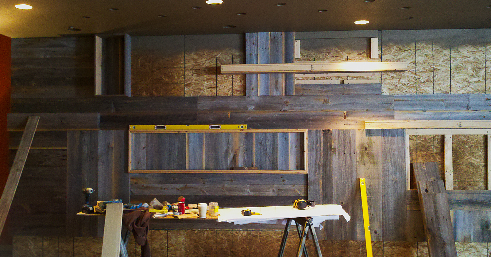 A shot of some work in progress that we completed at The Branch in West Yellowstone.