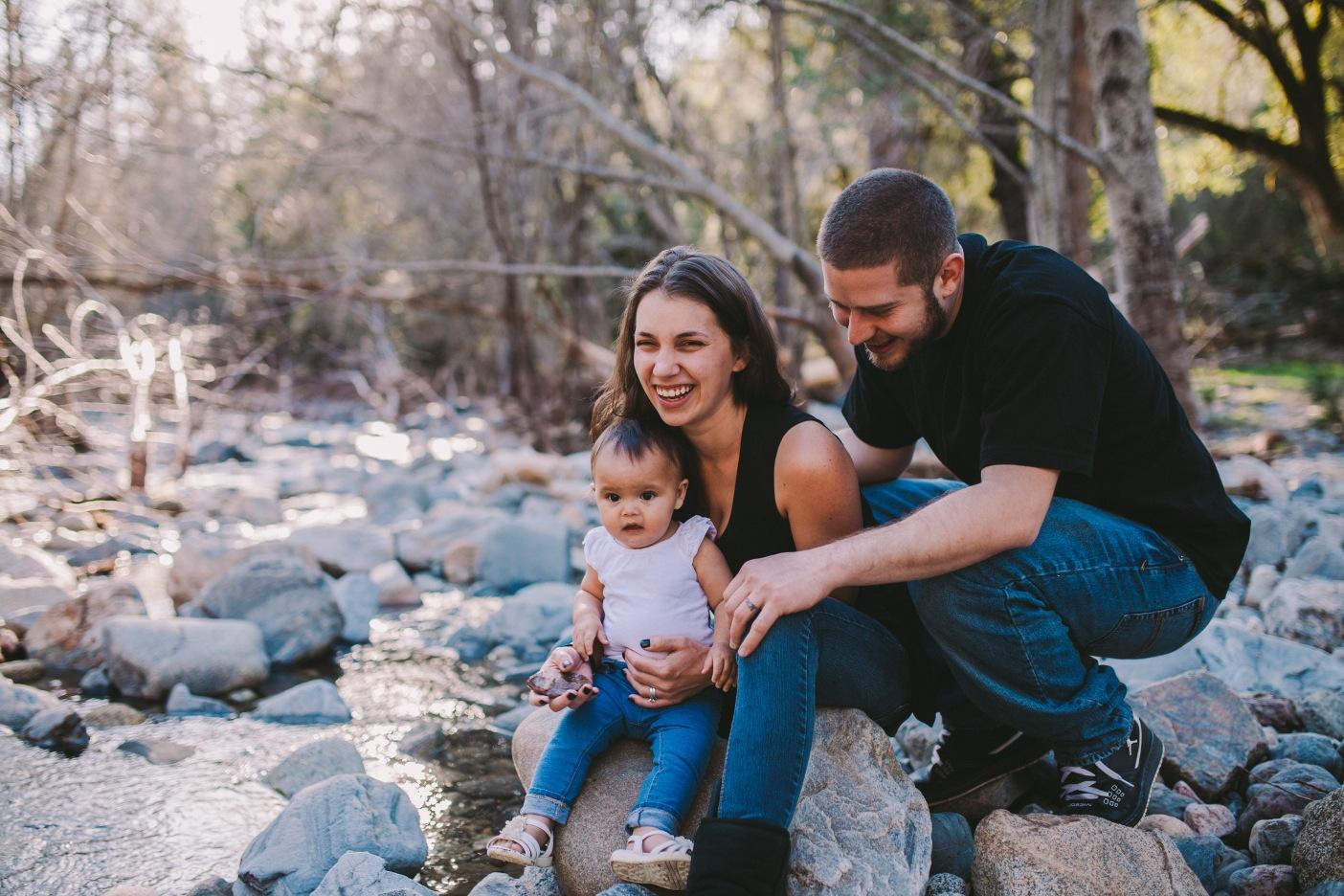 Tuolumne River Family Portrait Matching Blue Jeans