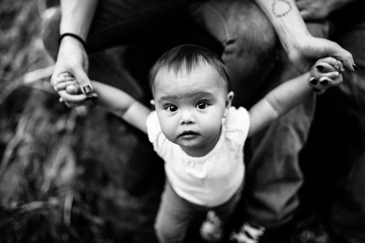 Black & White Toddler Portrait Stanislaus Forest