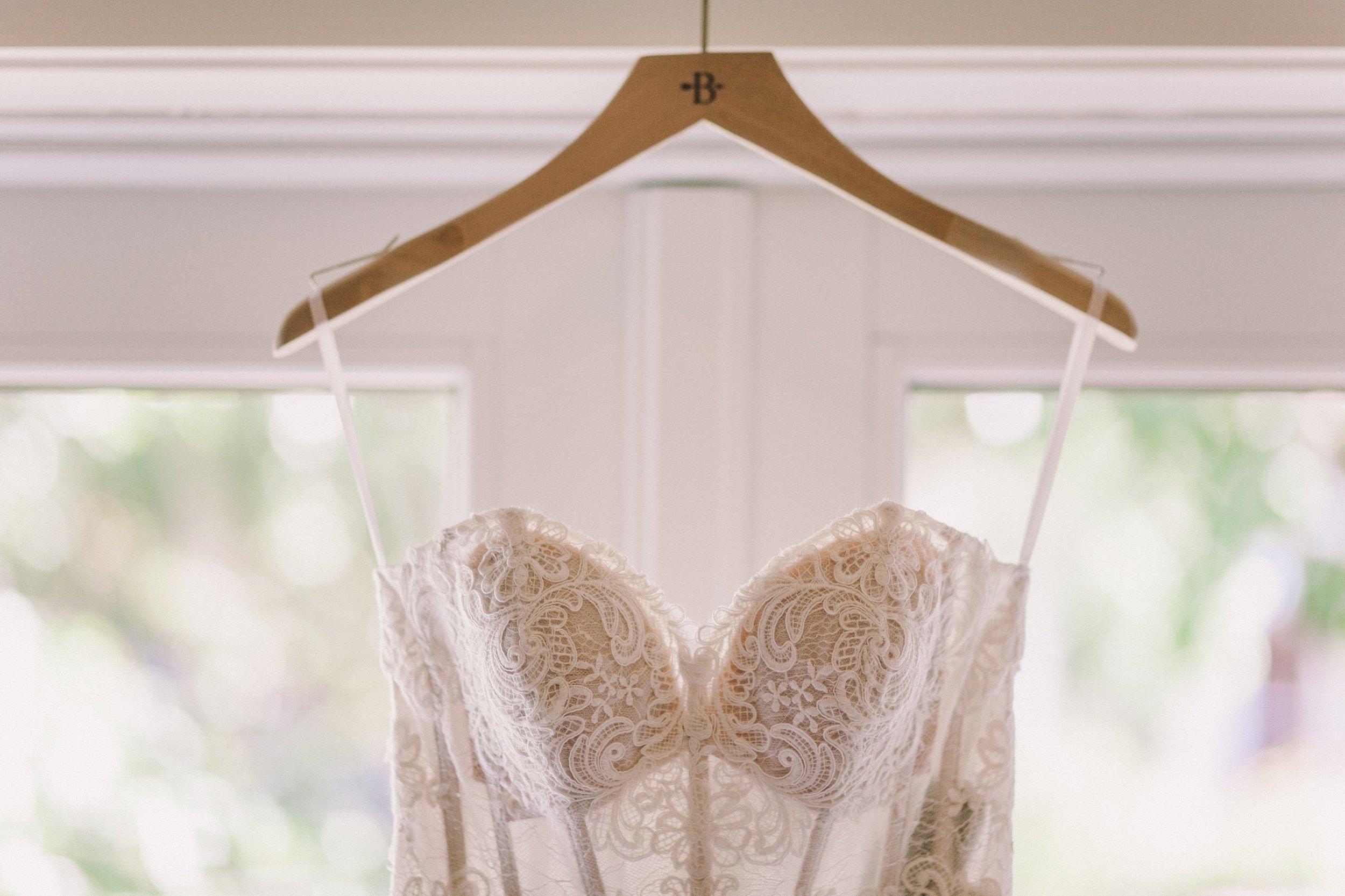 Close Up Detail Shot of Anthropologie BHLDN Lorena Gown Wedding Dress