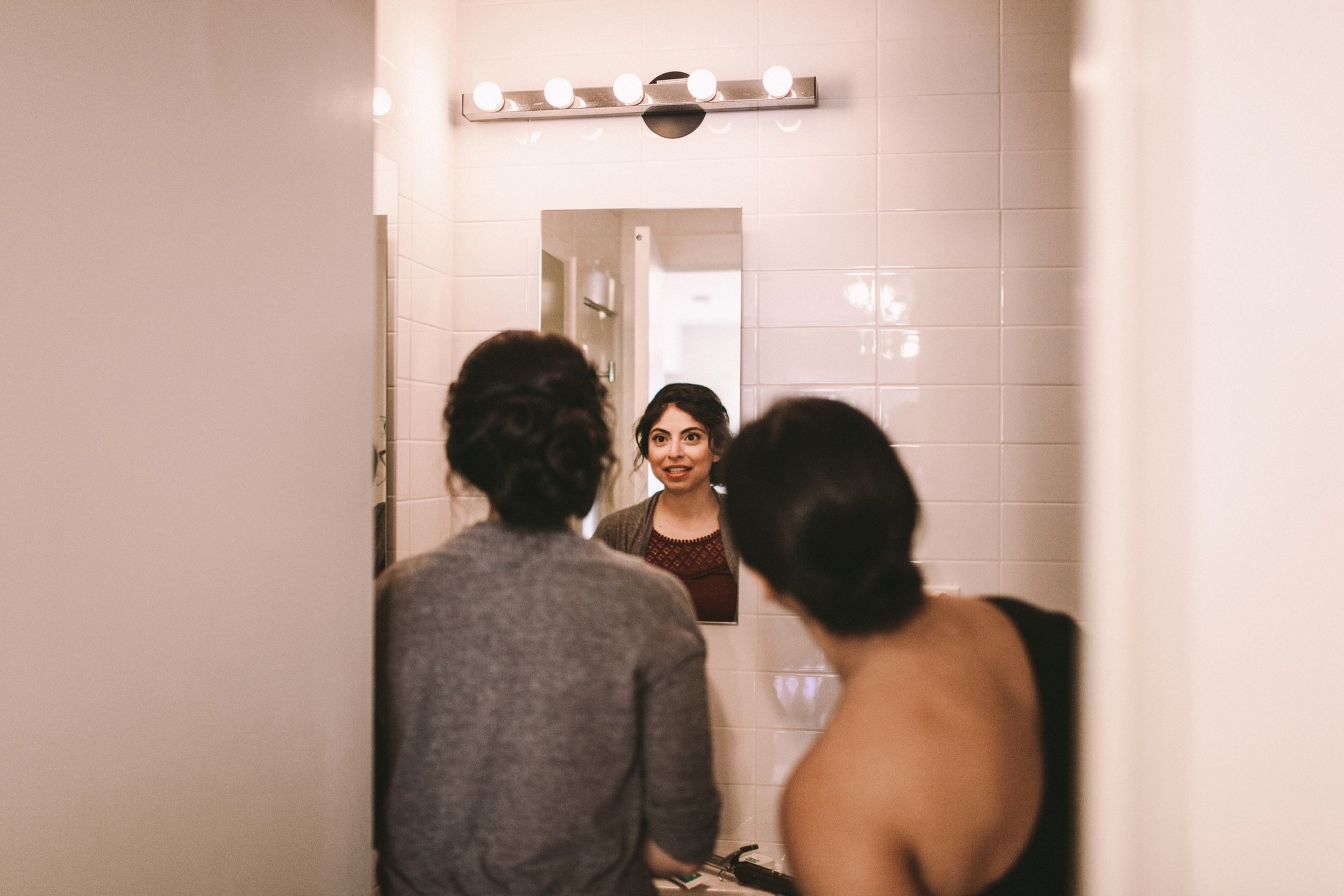 Bride Sees Wedding Make-Up for the First Time in Mirror