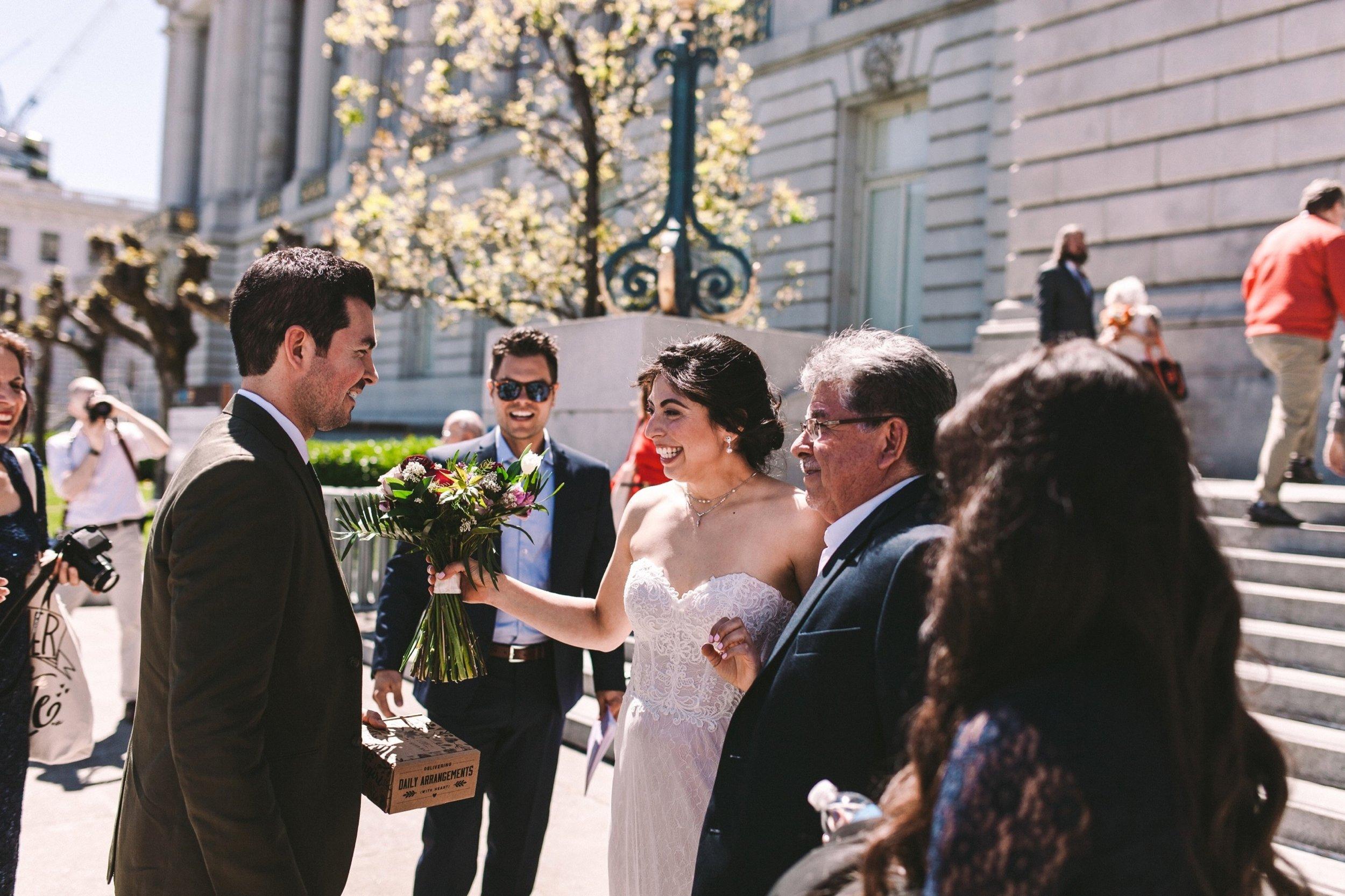 San Francisco City Hall Wedding First Look