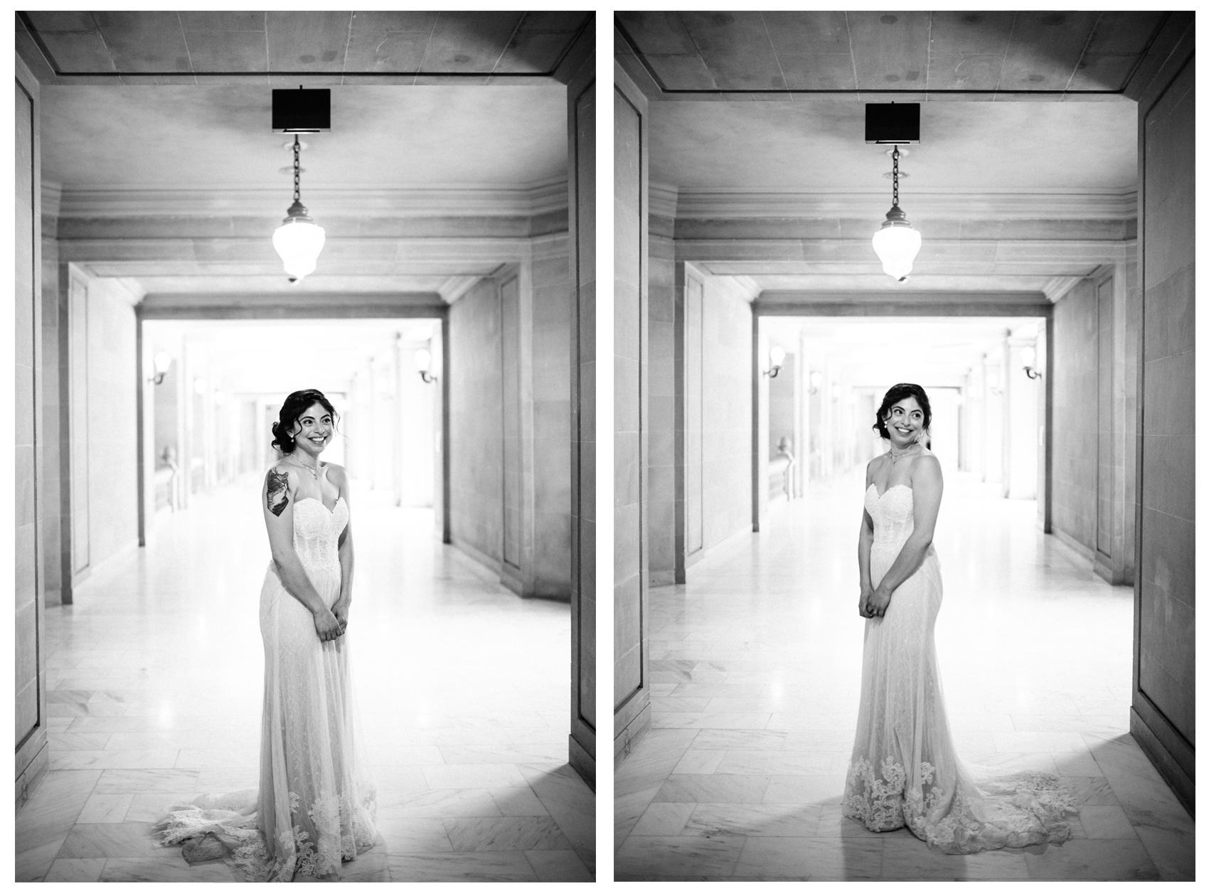 Anthropologie BHLDN Lorena Wedding Gown Real Bride Portrait