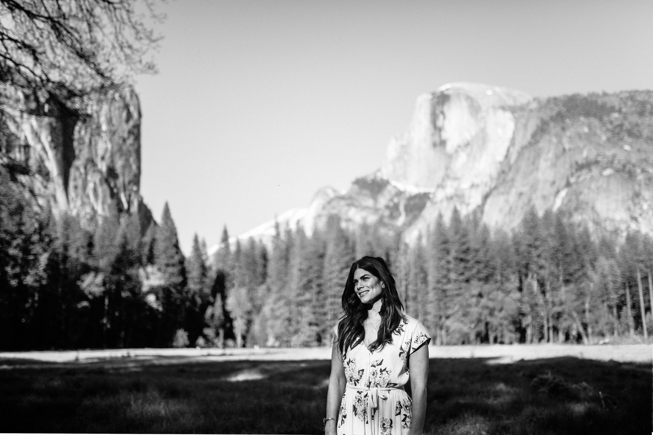 Bride-to-be in front of Half Dome