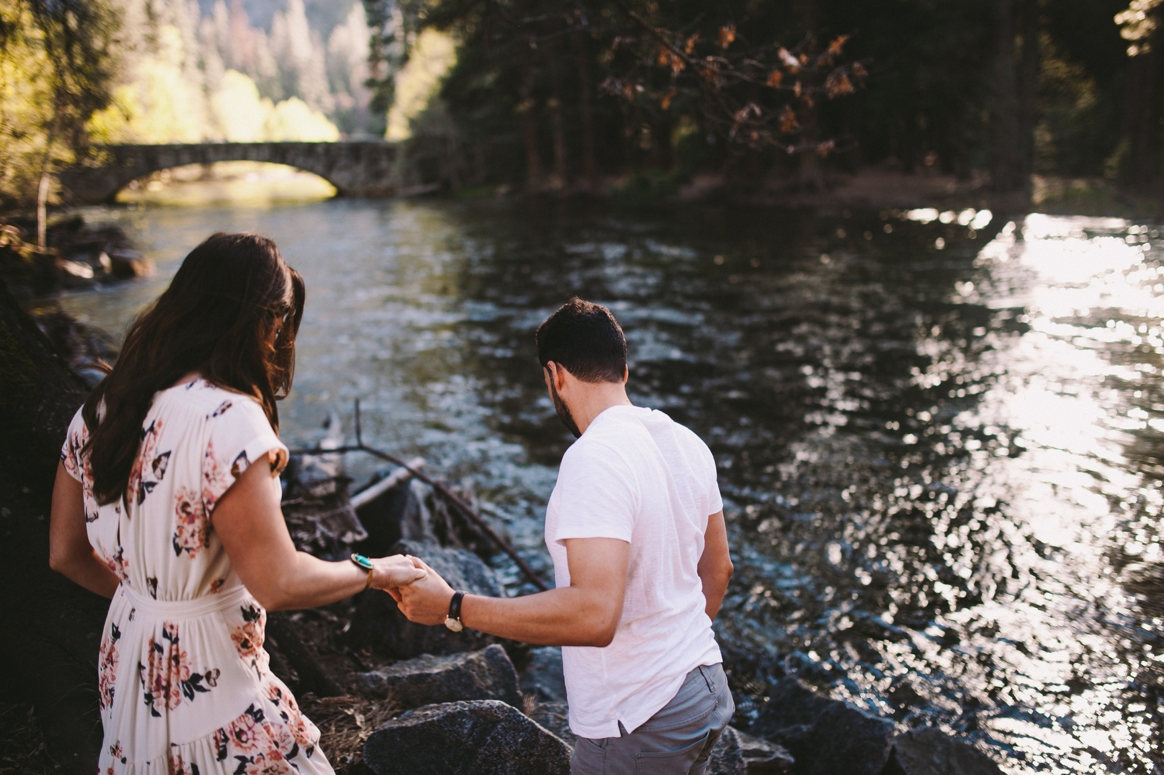 Stoneman Bridge Engagement Shoot in Yosemite