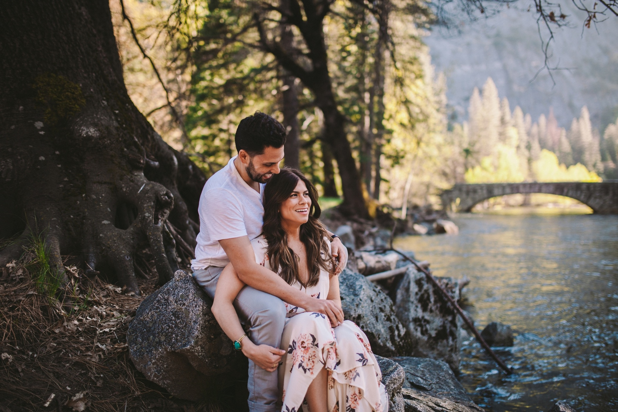 Couple by Merced River