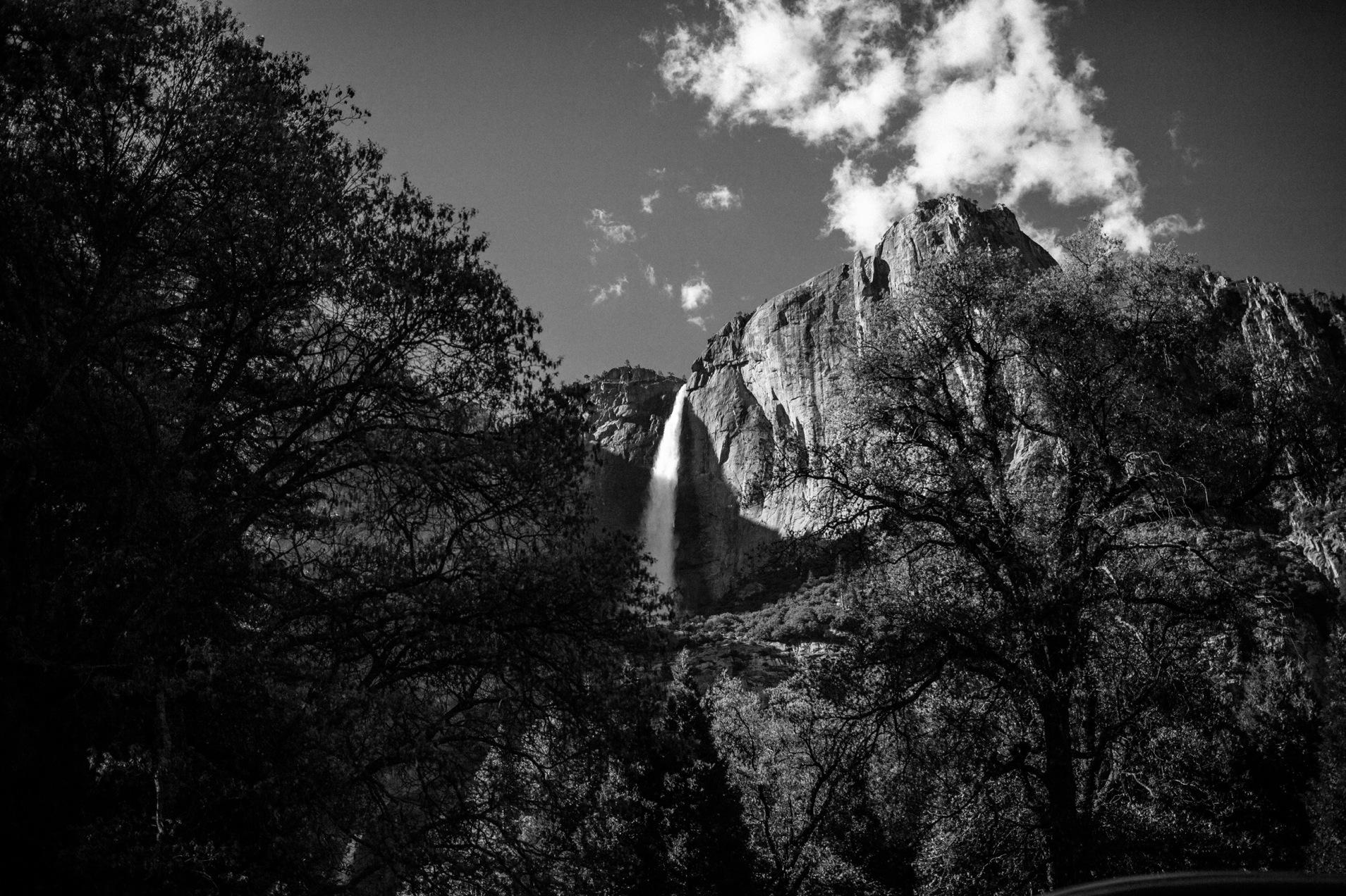 Yosemite Falls B&W