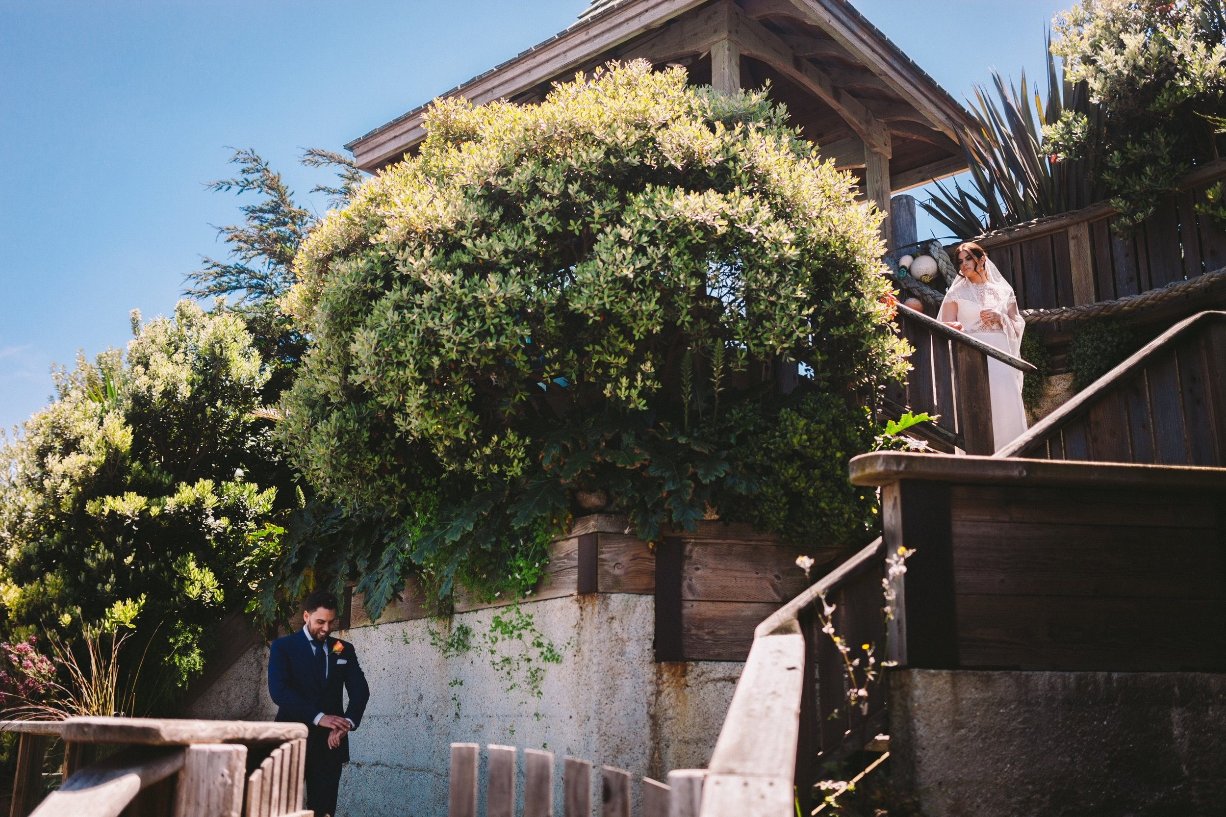 Pedro Point Boat House Wedding First Look