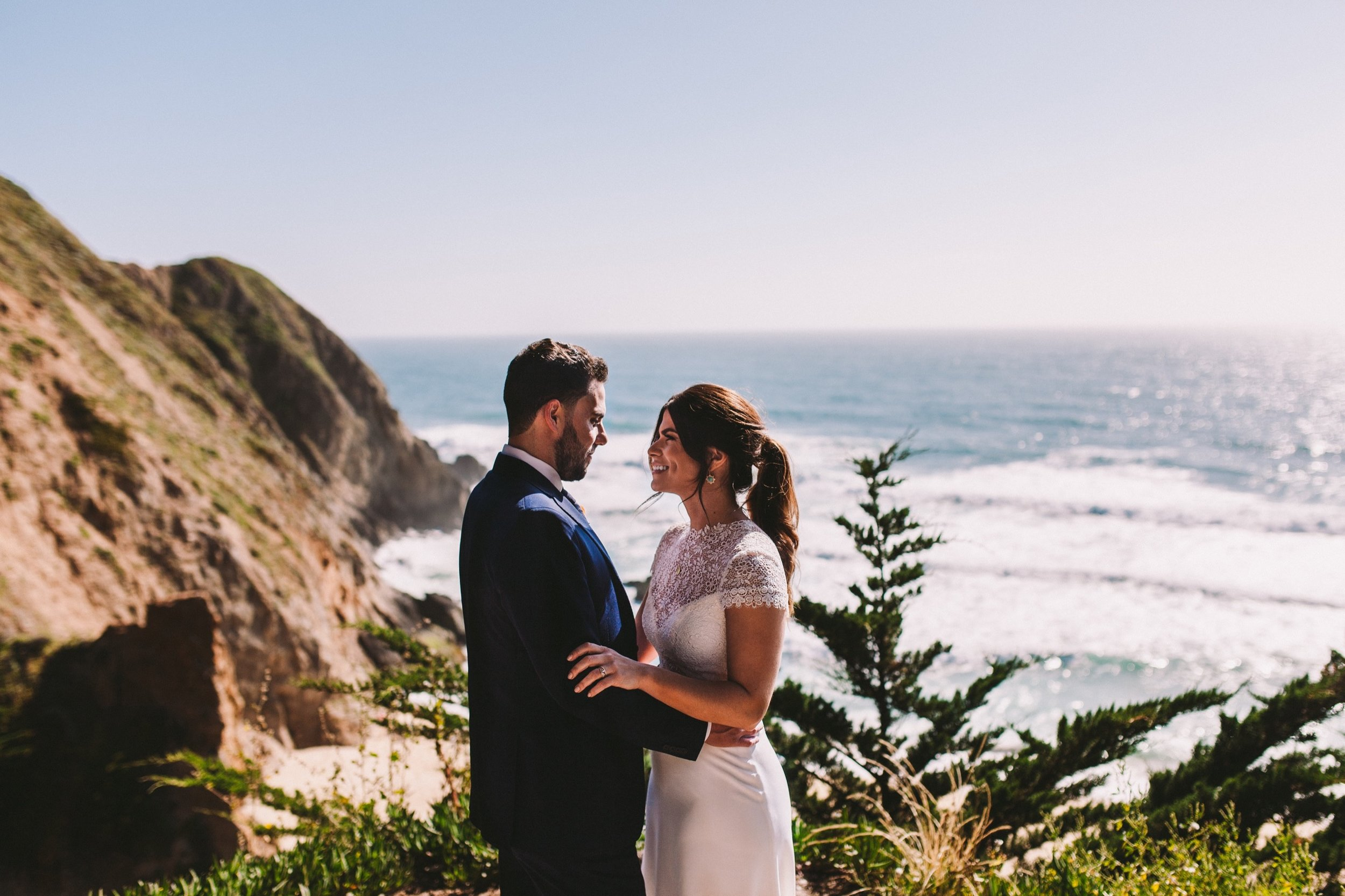 Gray Whale Cove Wedding Portraits