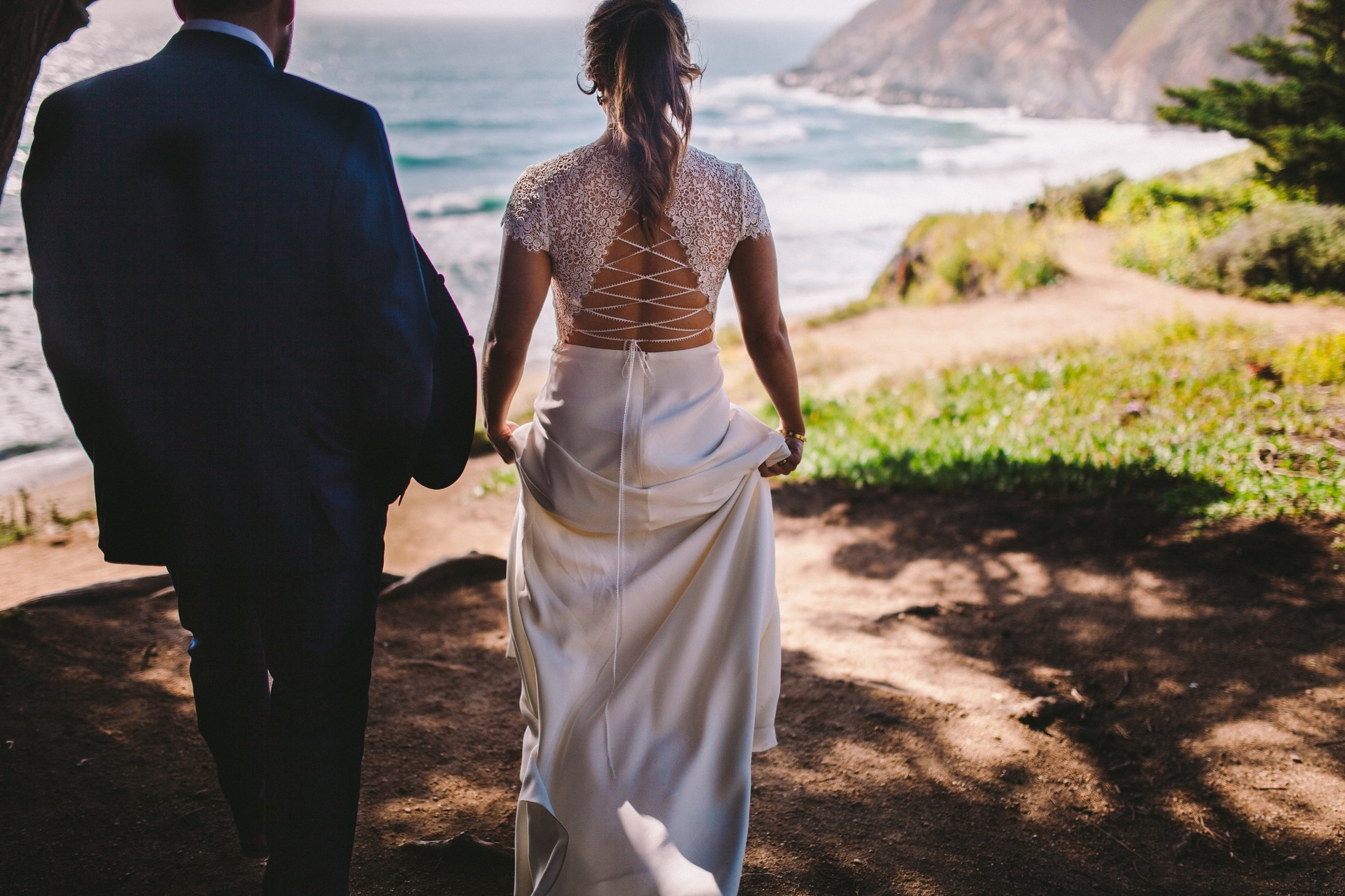 Gray Whale's Cove Wedding Portraits Half Moon Bay