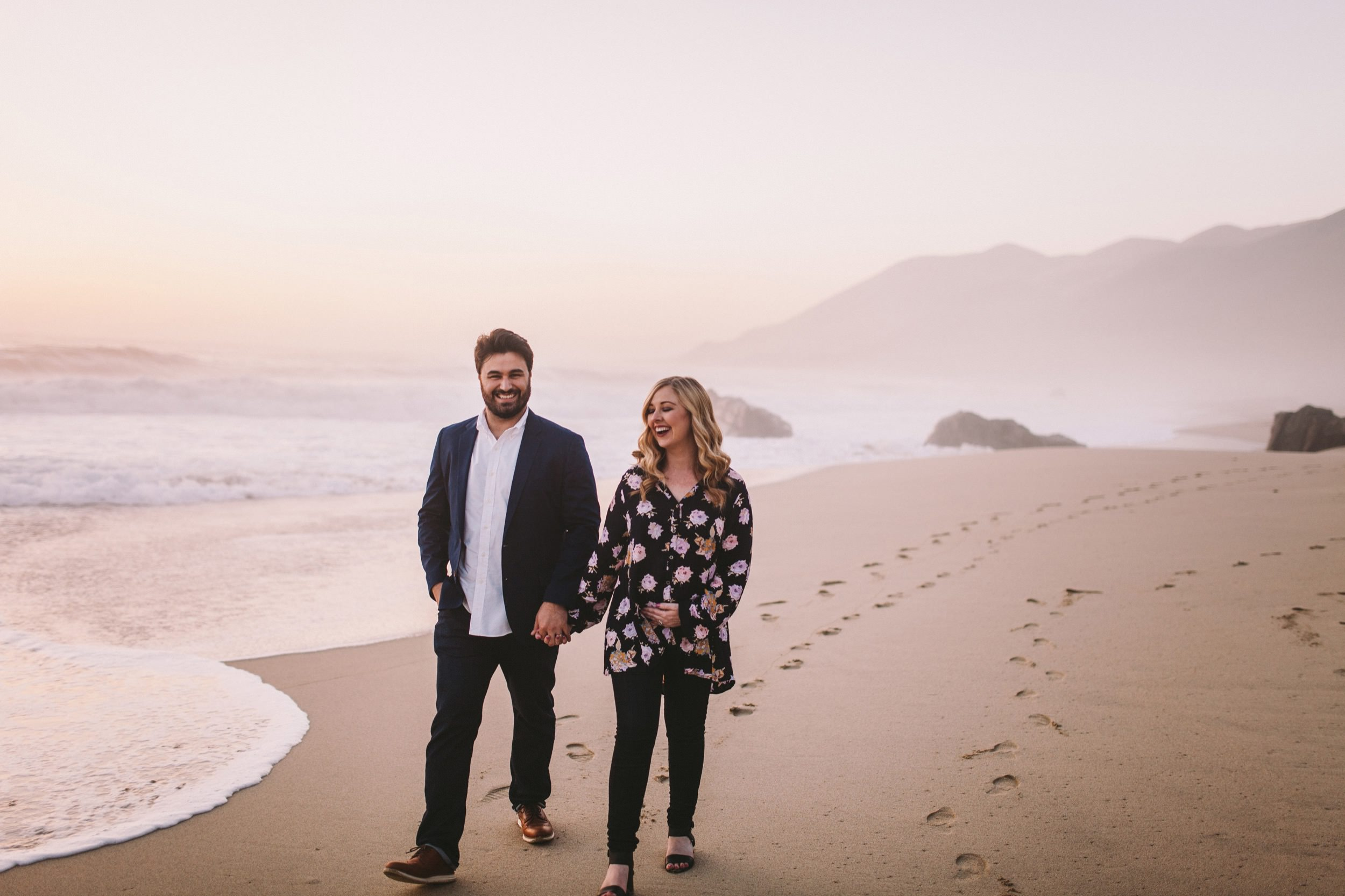 Garrapata State Park Couple Walking on the Beach Photography Session