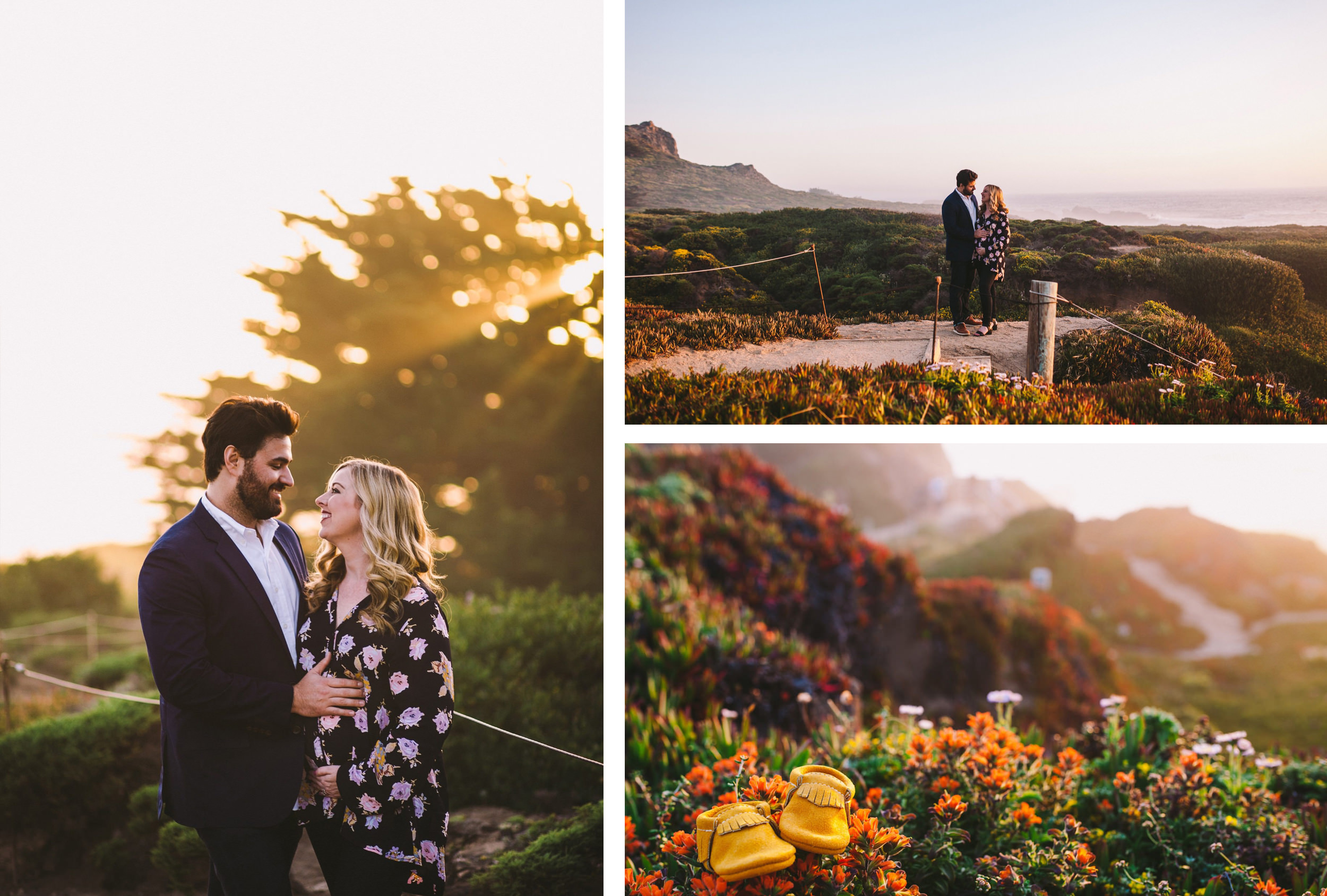 Garrapata State Park Pregnancy Announcement Photography Session Collage II.jpg