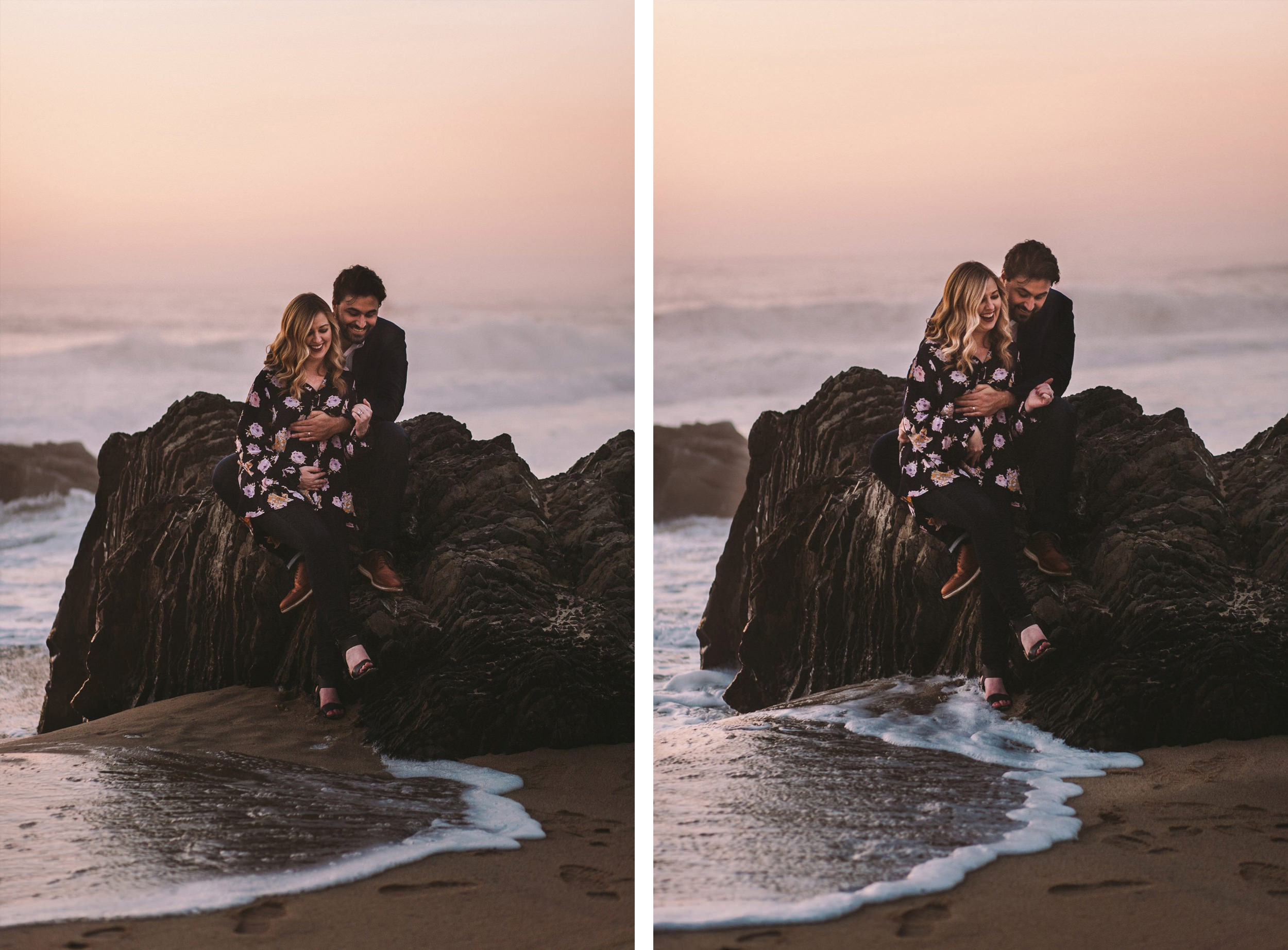 Garrapata State Beach Park Beach Pregnancy Announcement Shoot Collage 4.jpg