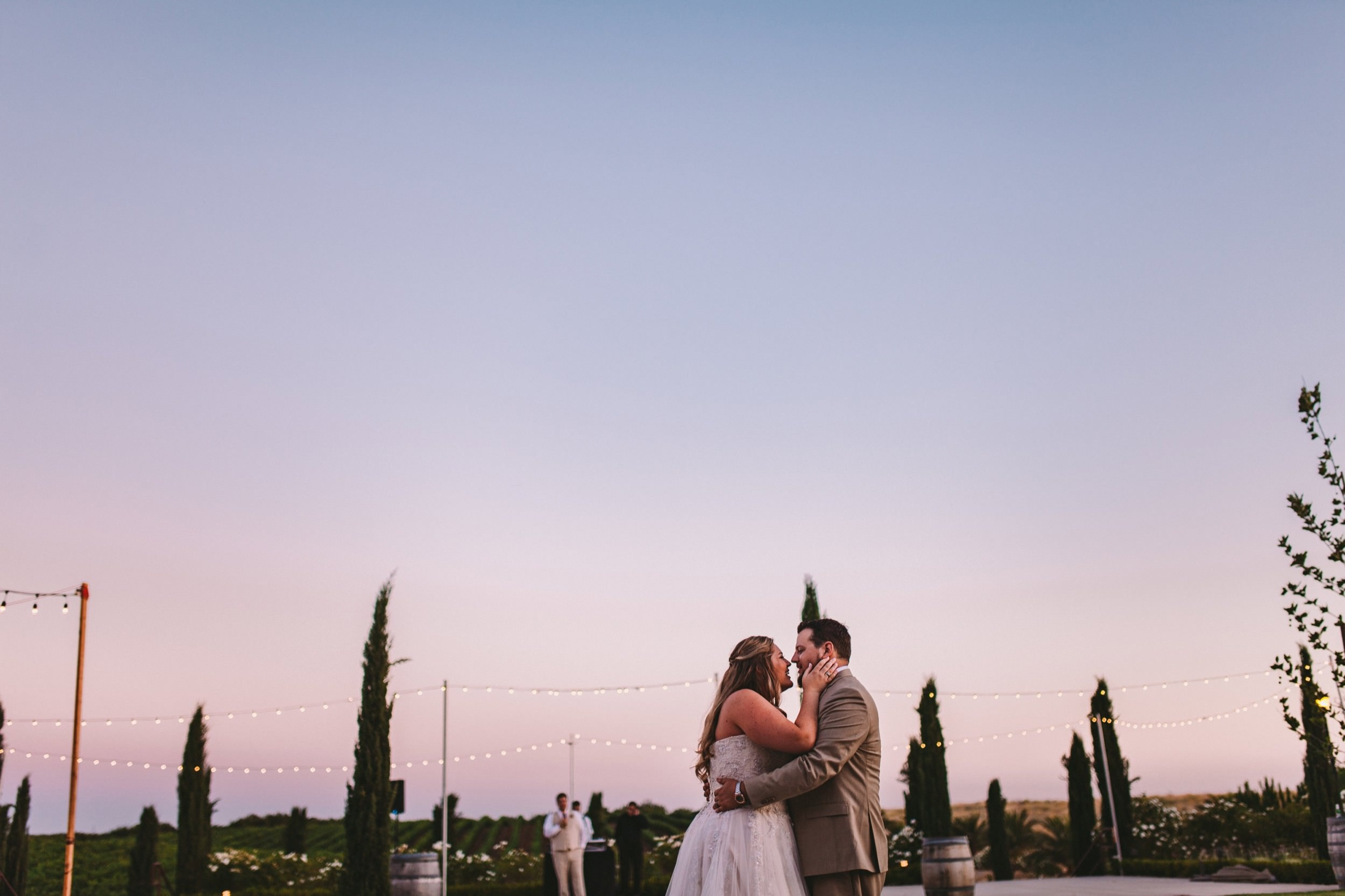 Sunset & Dusk Bride & Groom First Dance at Toca Madera Winery Fresno