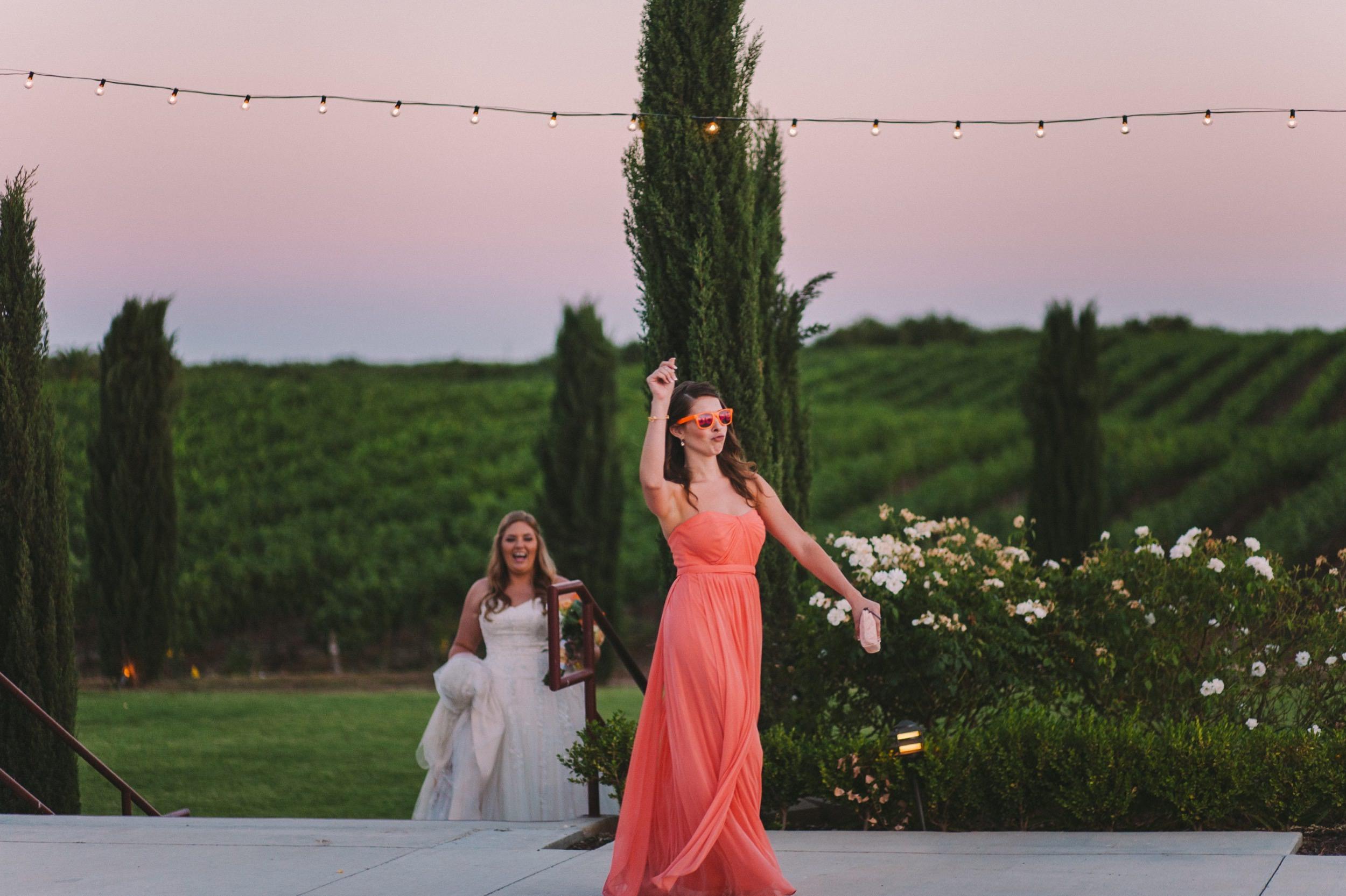 Bridal Party Dancing Entrance at Wedding Reception - Toca Madera Winery Wedding