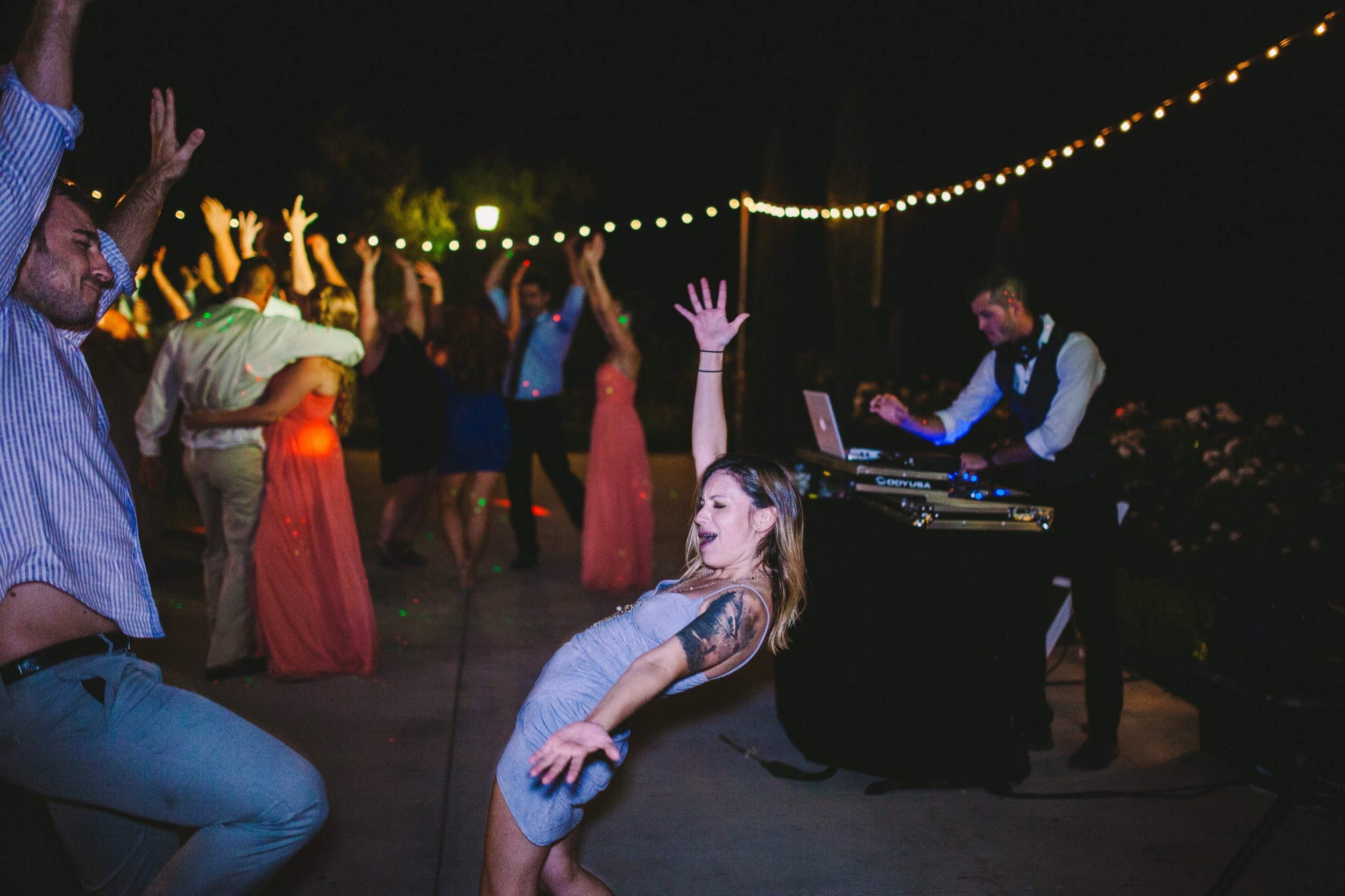 Wedding Guests Dancing at Toca Madera Winery Wedding Outdoor Reception