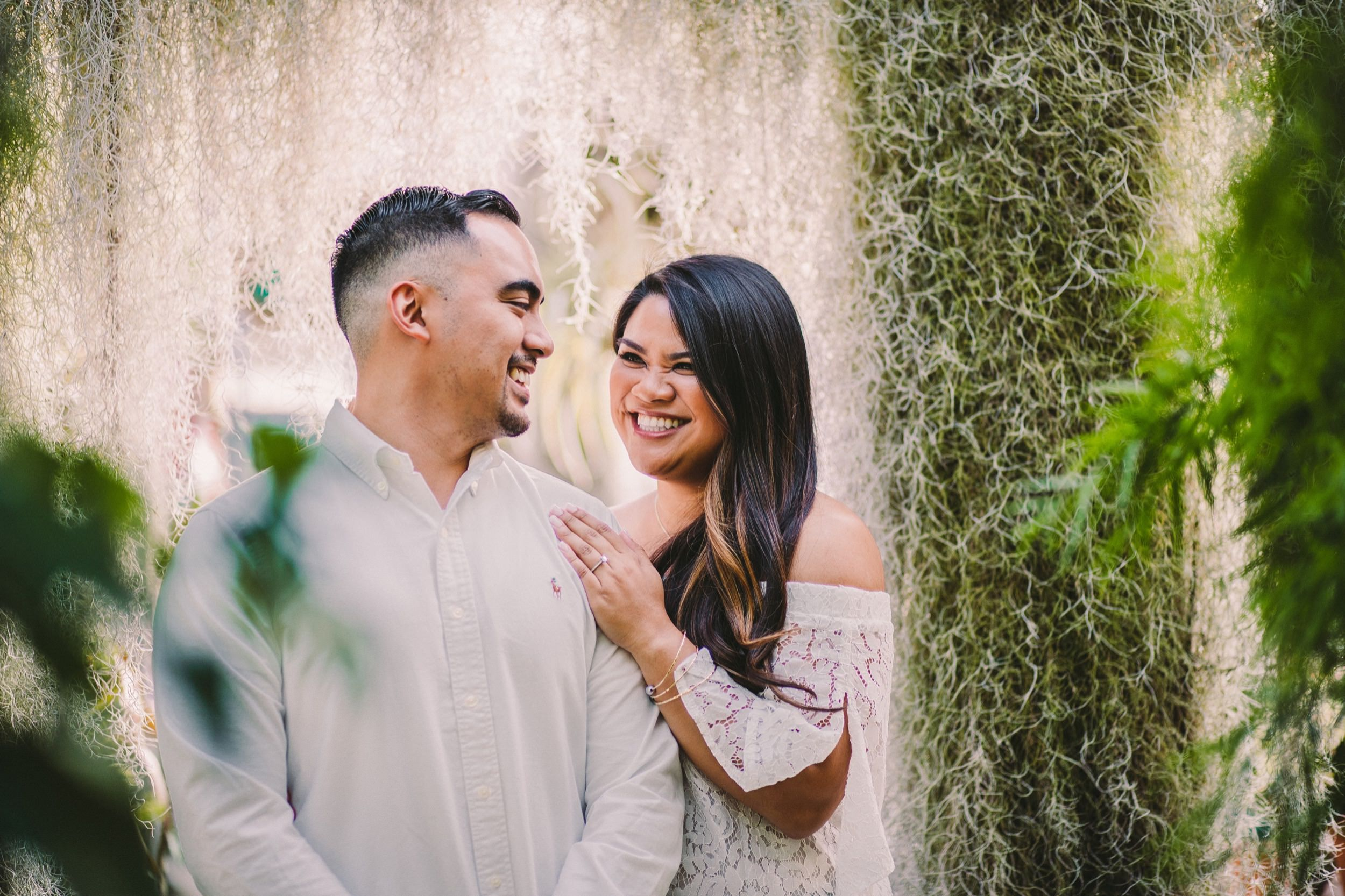 Shelldance Orchid Gardens Greenhouse Engagement Session Pacifica 18.jpg
