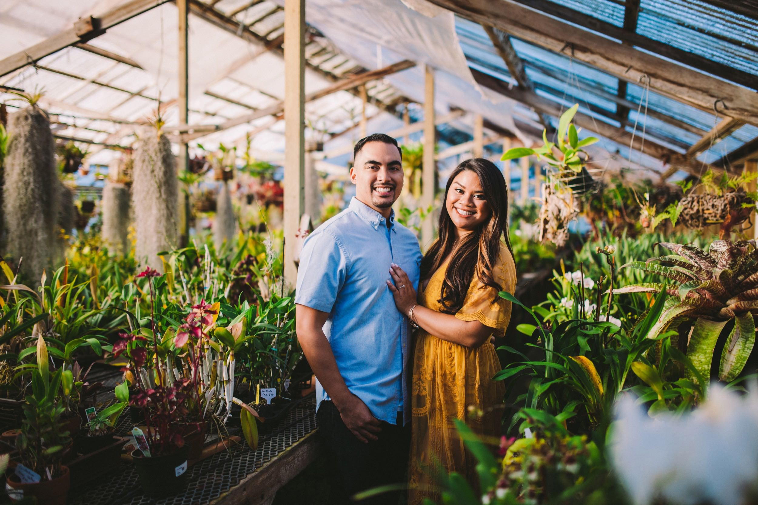 Shelldance Orchid Gardens Greenhouse Engagement Session Pacifica 31.jpg