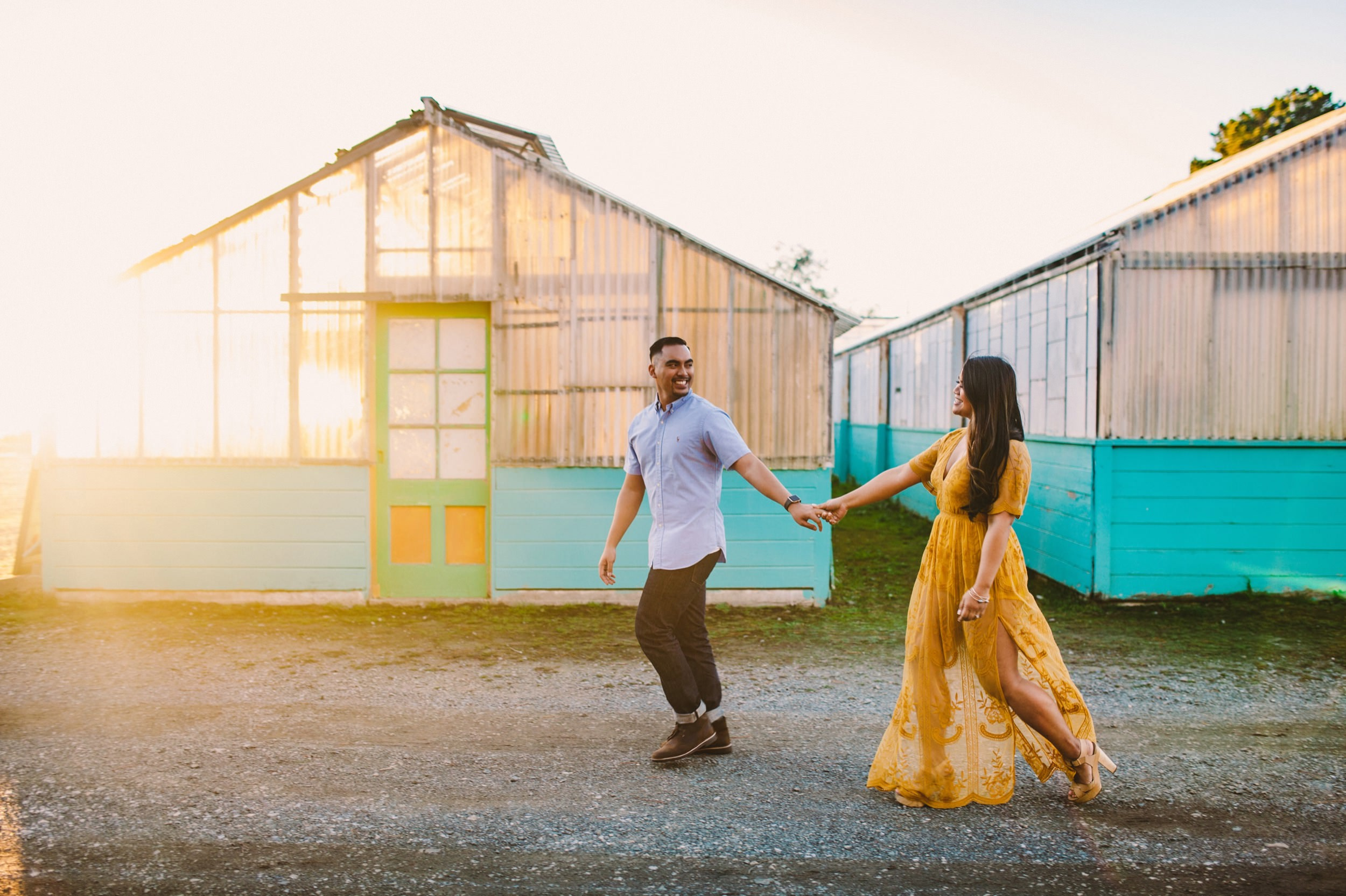 Shelldance Orchid Gardens Greenhouse Engagement Session Pacifica 45.jpg